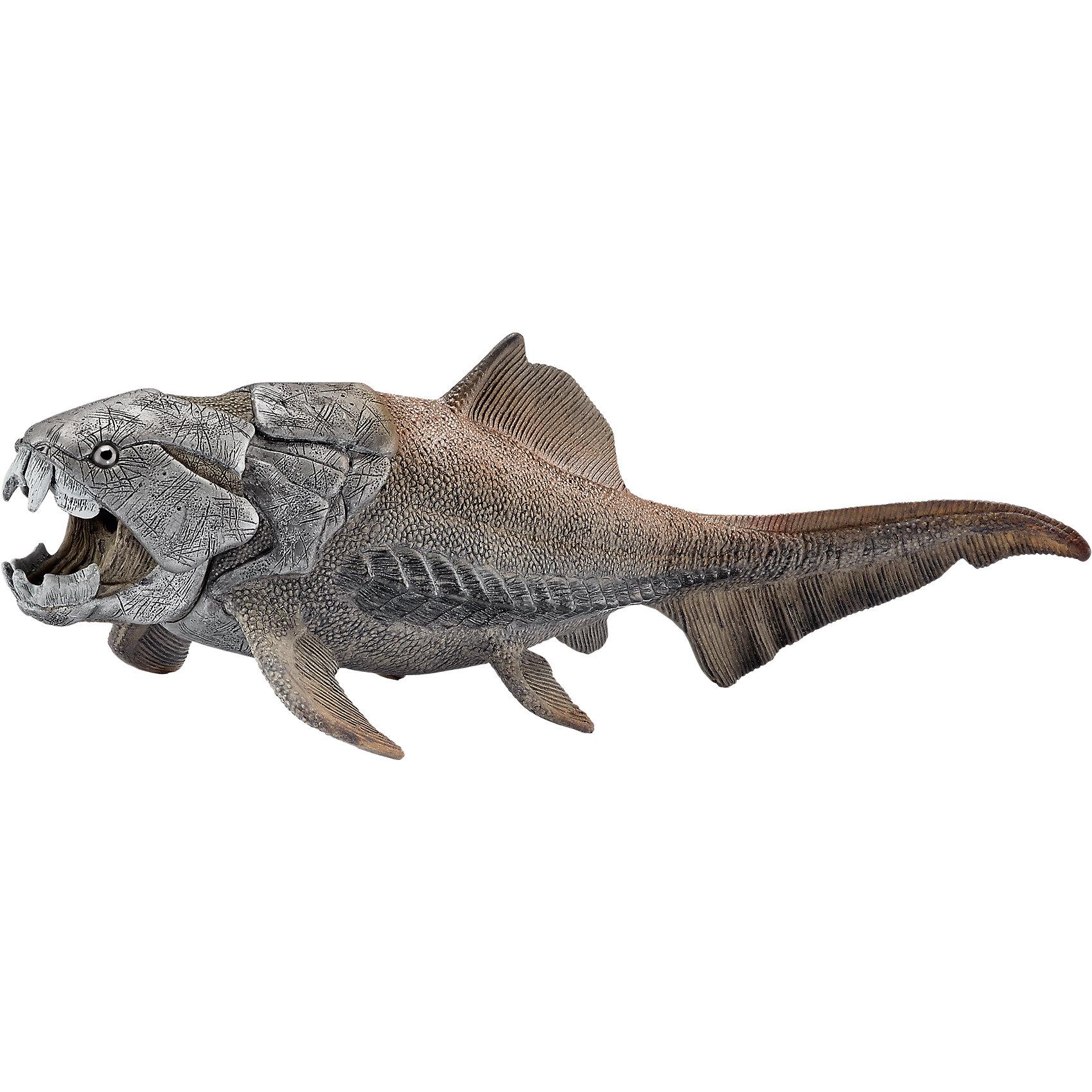 Дунклеостеус, SchleichДунклеостеус, Schleich – отличное пополнение коллекции динозавров или ее начала.<br>Если ребенок увлекается динозаврами, то Дунклеостеус станет отличным подарком для него. Такой вид динозавров жил 415-360 миллионов лет назад. Фигурка в точности повторяет воспроизведенное строение Дунклеостеуса. Изготовлена она из качественного материала, который безопасен для детей и не вызывает аллергии.<br><br>Дополнительная информация:<br><br>- возраст: от 3 лет<br>- материал: каучук, пластик<br>- размер: 21.3 x 6.9 x 8.6 см<br>- страна: Германия.<br><br>Дунклеостеуса, Schleich можно купить в нашем интернет магазине.<br><br>Ширина мм: 187<br>Глубина мм: 81<br>Высота мм: 76<br>Вес г: 135<br>Возраст от месяцев: 60<br>Возраст до месяцев: 144<br>Пол: Мужской<br>Возраст: Детский<br>SKU: 4662503
