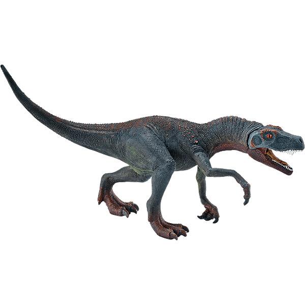 Герреразавр, SchleichМир животных<br>Герреразавр, Schleich – отличное пополнение коллекции динозавров или ее начала.<br>Если ребенок увлекается динозаврами, то Герреразавр станет отличным подарком для него. И порадовать интересным фактов, что динозавр назван в честь пастуха, который нашел его останки. Может быть, скоро и в честь маленького коллекционера назовут еще не известного динозавра? Фигурка в точности повторяет воспроизведенное строение Герреразавра. Изготовлена она из качественного материала, который безопасен для детей и не вызывает аллергии. Пасть динозавра открывается и закрывается.<br><br>Дополнительная информация:<br><br>- возраст: от 3 лет<br>- материал: каучук, пластик<br>- размер: 23 х 7.5 х 12.5 см<br>- страна: Германия<br><br>Герреразавр, Schleich можно купить в нашем интернет магазине.<br>Ширина мм: 223; Глубина мм: 147; Высота мм: 83; Вес г: 193; Возраст от месяцев: 60; Возраст до месяцев: 144; Пол: Мужской; Возраст: Детский; SKU: 4662504;