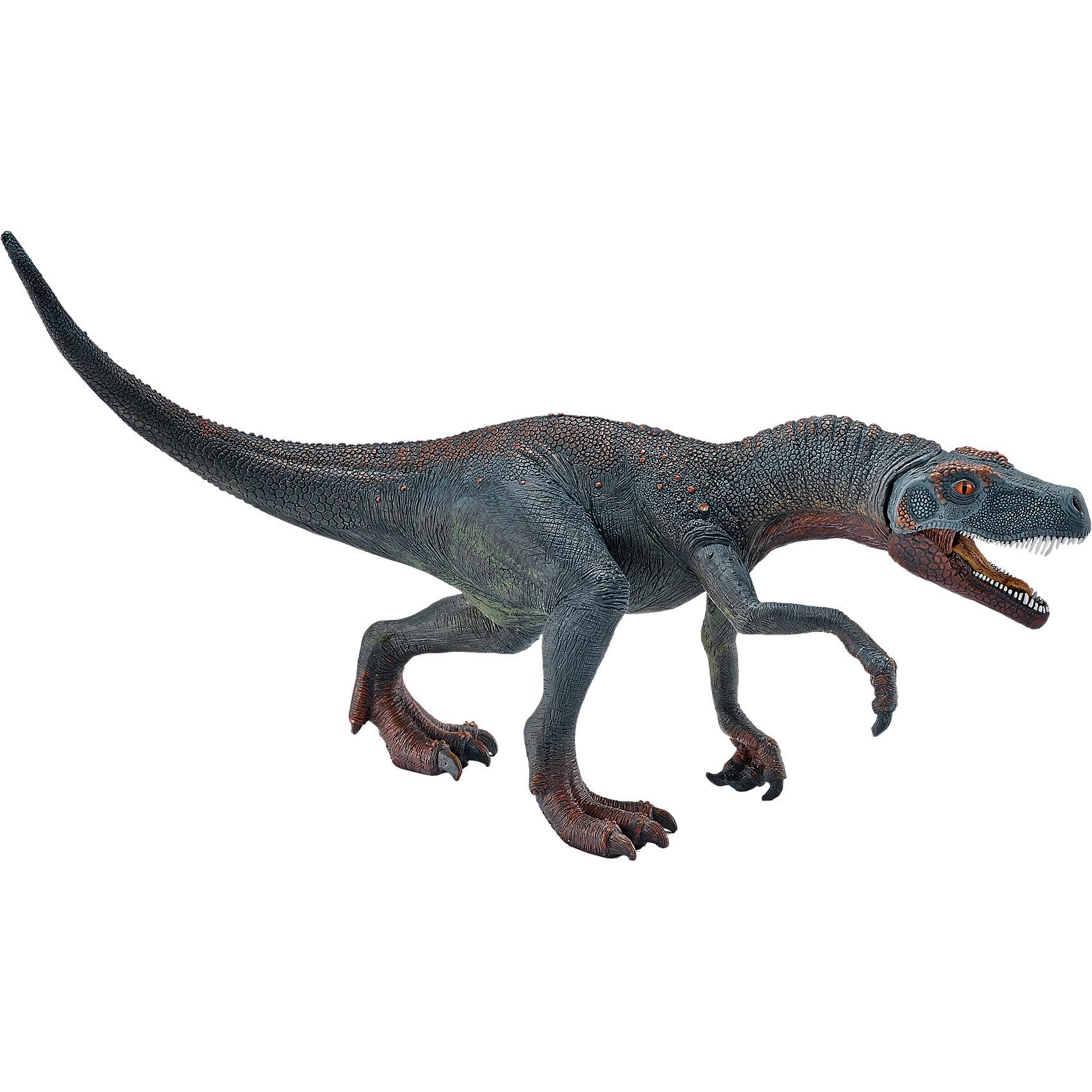 Герреразавр, SchleichГерреразавр, Schleich – отличное пополнение коллекции динозавров или ее начала.<br>Если ребенок увлекается динозаврами, то Герреразавр станет отличным подарком для него. И порадовать интересным фактов, что динозавр назван в честь пастуха, который нашел его останки. Может быть, скоро и в честь маленького коллекционера назовут еще не известного динозавра? Фигурка в точности повторяет воспроизведенное строение Герреразавра. Изготовлена она из качественного материала, который безопасен для детей и не вызывает аллергии. Пасть динозавра открывается и закрывается.<br><br>Дополнительная информация:<br><br>- возраст: от 3 лет<br>- материал: каучук, пластик<br>- размер: 23 х 7.5 х 12.5 см<br>- страна: Германия<br><br>Герреразавр, Schleich можно купить в нашем интернет магазине.<br><br>Ширина мм: 223<br>Глубина мм: 114<br>Высота мм: 76<br>Вес г: 192<br>Возраст от месяцев: 60<br>Возраст до месяцев: 144<br>Пол: Мужской<br>Возраст: Детский<br>SKU: 4662504