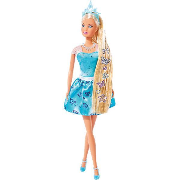 Кукла Штеффи с наклейками для волос, 29 см, SimbaБренды кукол<br>Характеристики товара:<br><br>• возраст от 3 лет<br>• материал: пластик, текстиль<br>• высота куклы 29 см<br>• руки и ноги подвижны<br>• в комплекте: кукла, наклейки, расческа<br>• размер упаковки 33х10х5 см<br>• упаковка: картонная коробка блистерного типа<br>• страна бренда: Германия<br>• страна производитель: Китай<br><br>Кукла Штеффи Simba одета в нежное голубое платье и туфельки. Волосы украшены диадемой. У Штеффи длинные густые светлые волосы, которые девочка сможет расчесывать, заплетать и украшать. Девочке обязательно понравятся яркие блестящие наклейки для волос, которыми можно украсить волосы, создав для Штеффи неповторимый образ. <br><br>Сначала наклейки помещаются в воду, а затем приклеиваются на волосы куклы. Ручки и ножки куклы подвижны. Игрушка изготовлена из качественного пластика.<br><br>Куклу Штеффи с наклейками для волос Simba можно приобрести в нашем интернет-магазине.<br><br>Ширина мм: 334<br>Глубина мм: 167<br>Высота мм: 55<br>Вес г: 215<br>Возраст от месяцев: 36<br>Возраст до месяцев: 72<br>Пол: Женский<br>Возраст: Детский<br>SKU: 4662652