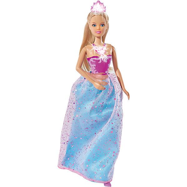 Кукла Штеффи магическая принцесса, 29 см, SimbaКуклы<br>Характеристики товара:<br><br>- цвет: разноцветный;<br>- материал: пластик, текстиль;<br>- возраст: от трех лет;<br>- комплектация: кукла, аксессуары;<br>- высота куклы: 29 см.<br><br>Эта симпатичная кукла Штеффи от известного бренда не оставит девочку равнодушной! Какая девочка сможет отказаться поиграть с куклами, которые дополнены таким очаровательным нарядом?! В набор входит одежда для куклы. Игрушка очень качественно выполнена, поэтому она станет замечательным подарком ребенку. <br>Продается набор в красивой удобной упаковке. Игры с куклами помогают девочкам развить важные навыки и отработать модели социального взаимодействия. Изделие произведено из высококачественного материала, безопасного для детей.<br><br>Куклу Штеффи магическая принцесса, 29 см, от бренда Simba можно купить в нашем интернет-магазине.<br><br>Ширина мм: 339<br>Глубина мм: 193<br>Высота мм: 60<br>Вес г: 251<br>Возраст от месяцев: 36<br>Возраст до месяцев: 72<br>Пол: Женский<br>Возраст: Детский<br>SKU: 4662863