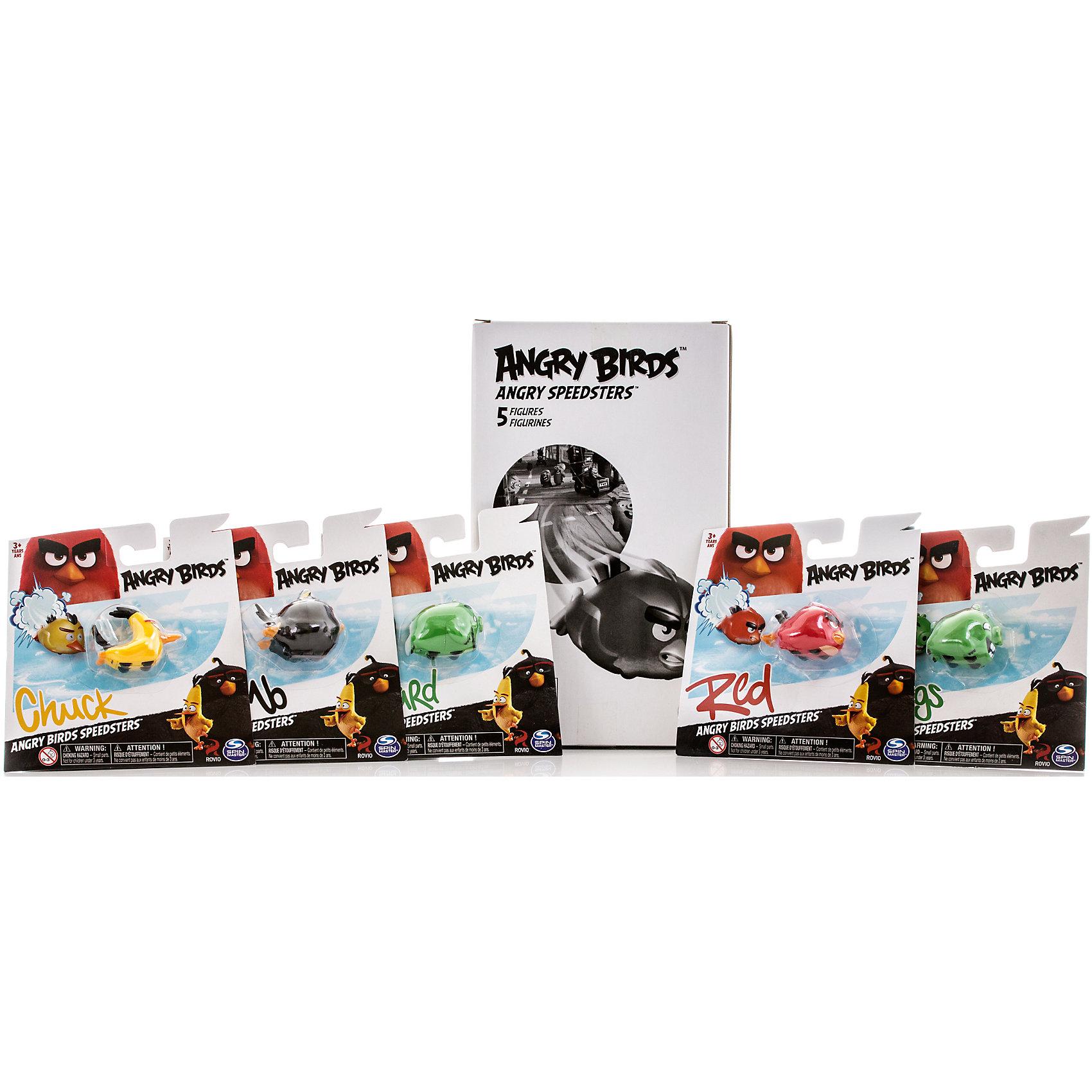 Набор из 5 игрушек на колесах Angry BirdsКоллекционные и игровые фигурки<br>Характеристики игрушки Набор из 5 птичек на колесах:<br><br>- возраст: от 3 лет<br>- герой: Angry Birds<br>- пол: для мальчиков и девочек<br>- комплект: 1 набор.<br>- материал: пластик, металл.<br>- размер упаковки: 17* 22 * 5 см.<br>- упаковка: картонная коробка.<br>- упаковка отдельной игрушки: блистер на картоне.<br>- длина игрушки: 6 см.<br>- страна обладатель бренда: Канада.<br><br>Набор из 5 игрушек на колесах Angry Birds предназначен для маленьких любителей игры про сердитых птичек. В наборе собраны 5 разных персонажей Энгри Бердс с каждой противоборствующей стороны, то есть птичек и свинок.<br><br>Внешний вид игрушки точно передает образ своего виртуального персонажа. Для более интересной игры, внизу сделаны колесики. Благодаря им можно разыгрывать сценки из мультика и бомбить соперника. Машинка сделана из ударопрочного пластика, который с легкостью выдержит столкновение.<br><br>Игрушку Набор из 5 птичек на колесах можно купить в нашем интернет-магазине.<br><br>Ширина мм: 160<br>Глубина мм: 270<br>Высота мм: 100<br>Вес г: 325<br>Возраст от месяцев: 36<br>Возраст до месяцев: 192<br>Пол: Унисекс<br>Возраст: Детский<br>SKU: 4663717