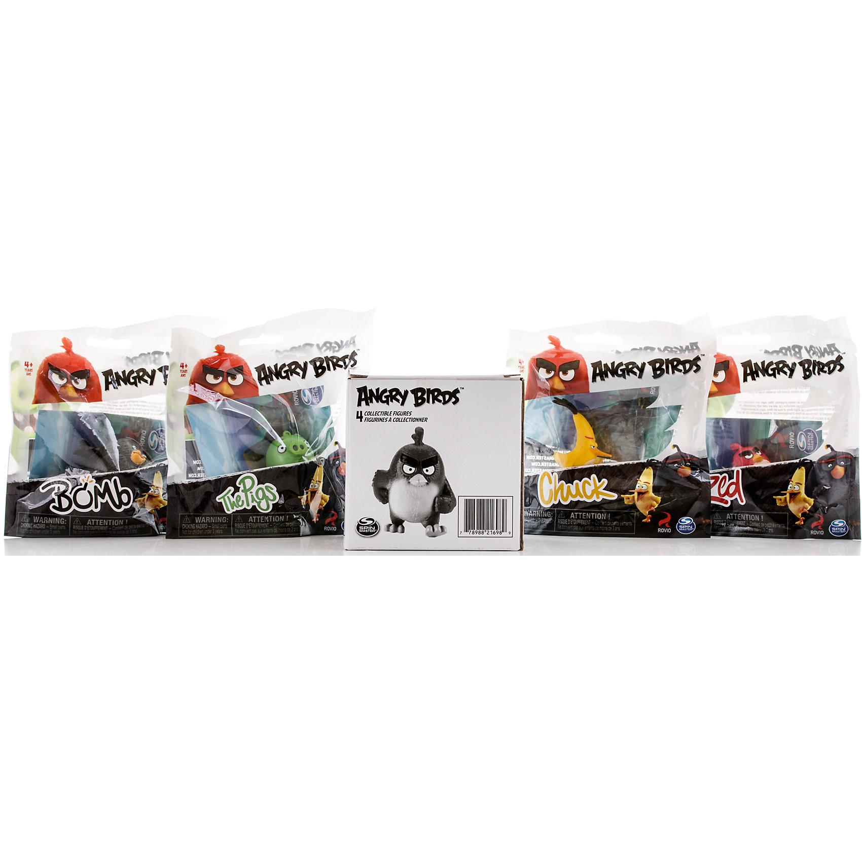 Набор из 4 фигурок Angry BirdsХарактеристики Игрушки Набор из 4 сердитых птичек:<br><br>- возраст: от 3 лет<br>- герой: Angry Birds<br>- пол: для мальчиков и девочек<br>- комплект: 1 набор.<br>- материал: пластик<br>- упаковка: картонная коробка.<br>- упаковка отдельной игрушки: блистер на картоне.<br>- длина игрушки: 6 см.<br>- страна обладатель бренда: Канада.<br><br>Замечательная новинка весны 2016 года от компании Spin Master – набор из 4 коллекционных фигурок героев популярнейшей во всем мире компьютерной игры и мультфильма Angry Birds! Такой подарок оценят не только дети, но и вполне взрослые люди, ведь обаянию сердитых птичек и зеленых поросят подвластны люди самых разных возрастов. Высота каждой минифигурки 5 см, игрушки выполнены из пластика и очень тщательно детализированы. Фигурки очень ярко и точно отражают характеры героев и их эмоции. Каждый персонаж представлен в нескольких вариантах мимики и поз. Собери всю коллекцию смешных персонажей Энгри Бёрдз на своей полке!<br><br>Игрушку Набор из 4 птичек на колесах можно купить в нашем интернет-магазине.<br><br>Ширина мм: 100<br>Глубина мм: 110<br>Высота мм: 100<br>Вес г: 216<br>Возраст от месяцев: 36<br>Возраст до месяцев: 192<br>Пол: Унисекс<br>Возраст: Детский<br>SKU: 4663718