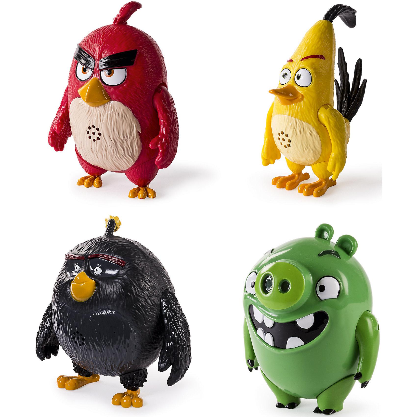 Игрушка Интерактивная говорящая птица, Angry BirdsКоллекционные и игровые фигурки<br>Подвижная фигурка со звуком<br>(только английский язык)<br>* Звуки и фразы из мультфильма<br>4 вида в ассортименте                          Выбранный вариант в поставке не гарантирован.<br><br>Ширина мм: 170<br>Глубина мм: 210<br>Высота мм: 110<br>Вес г: 400<br>Возраст от месяцев: 36<br>Возраст до месяцев: 192<br>Пол: Унисекс<br>Возраст: Детский<br>SKU: 4663719