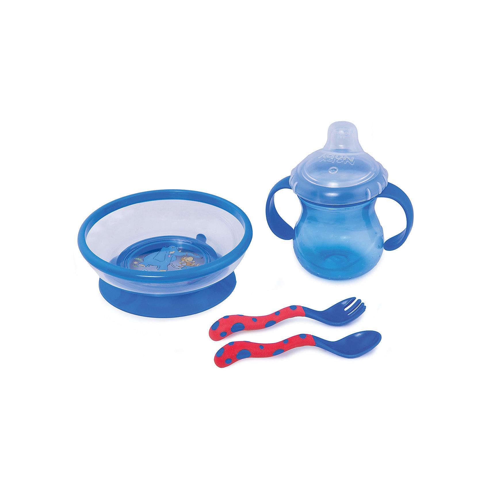 Nuby Набор посуды, Nuby, nuby nuby набор ложек синие