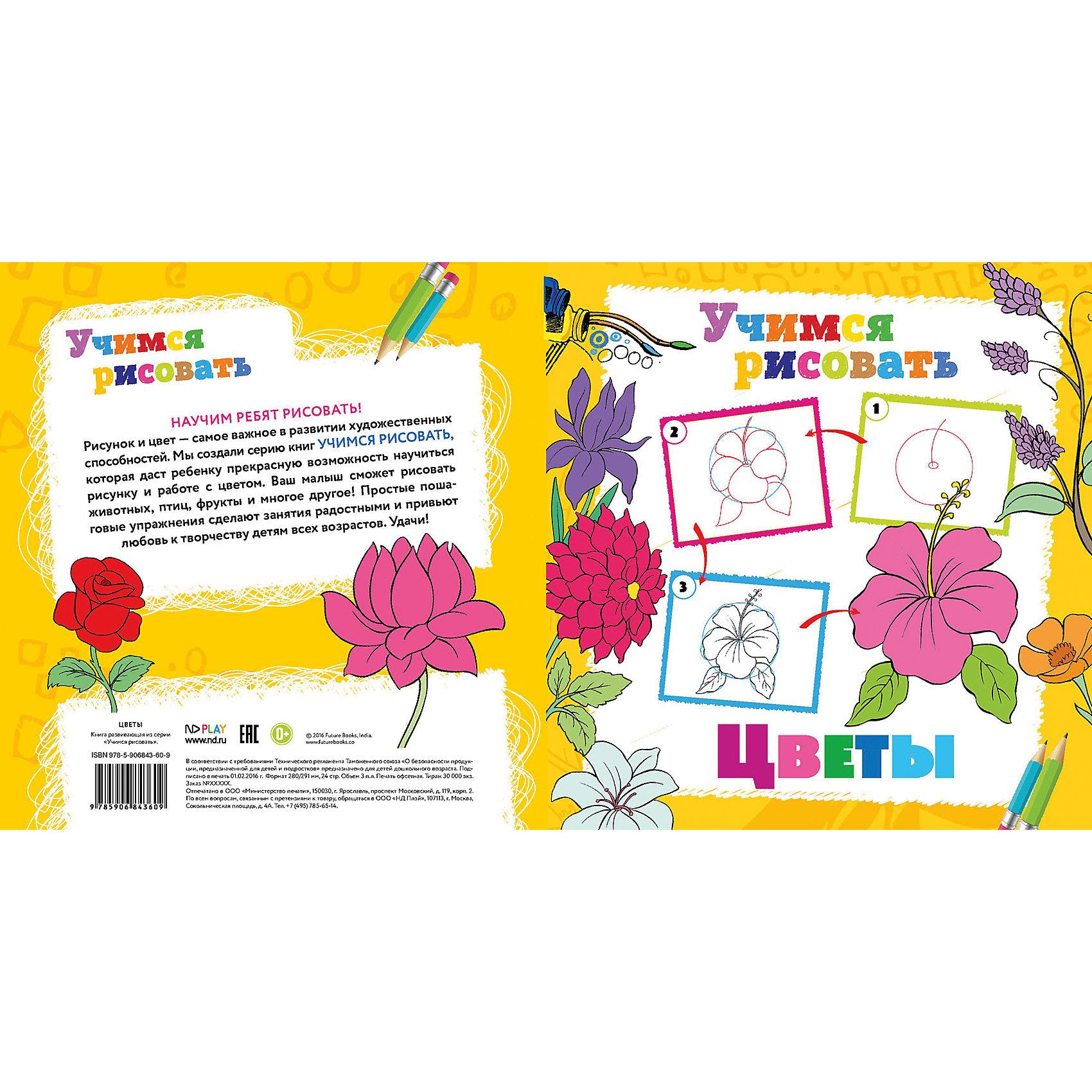 Новый Диск Книга Цветы Учимся рисовать бёрджин м цветы тематические уроки как рисовать