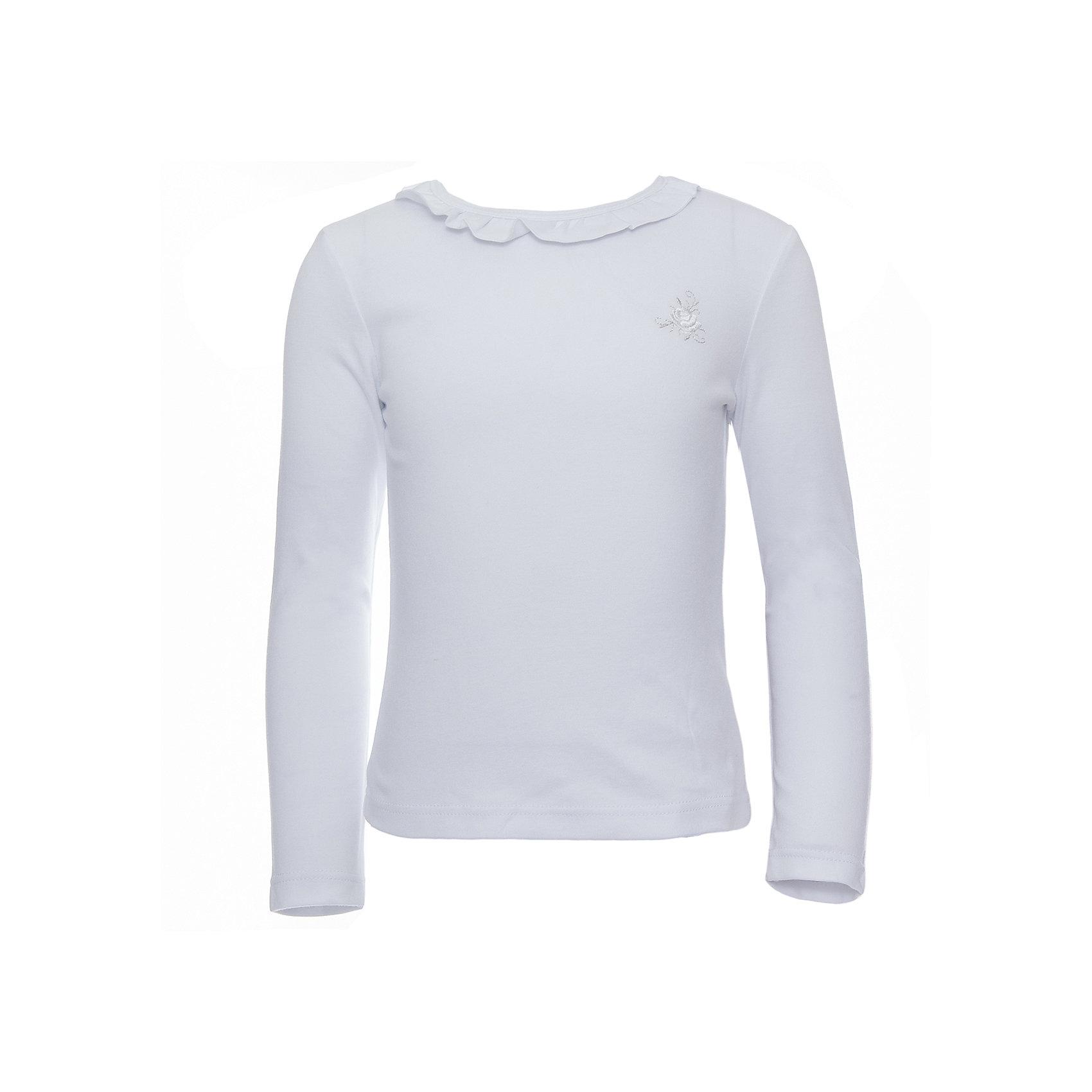 Футболка с длинным рукавом для девочки Белый снегБлузки и рубашки<br>Футболка с длинным рукавом для девочки от российской марки Белый снег.<br>Состав:<br>100%хлопок<br><br>Ширина мм: 230<br>Глубина мм: 40<br>Высота мм: 220<br>Вес г: 250<br>Цвет: белый<br>Возраст от месяцев: 120<br>Возраст до месяцев: 132<br>Пол: Женский<br>Возраст: Детский<br>Размер: 140/146,110/116,158,134,152,98/104,122/128<br>SKU: 4666649