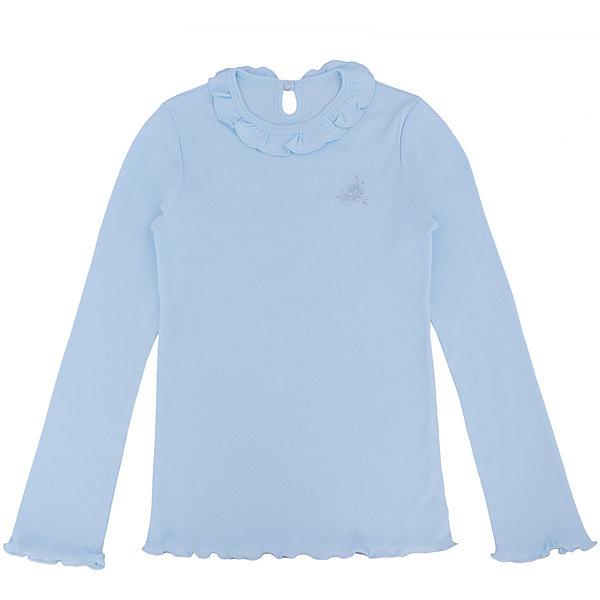 Футболка с длинным рукавом для девочки Белый снегБлузки и рубашки<br>Футболка для девочки от российской марки Белый снег.<br>Состав:<br>100%хлопок<br><br>Ширина мм: 199<br>Глубина мм: 10<br>Высота мм: 161<br>Вес г: 151<br>Цвет: голубой<br>Возраст от месяцев: 132<br>Возраст до месяцев: 144<br>Пол: Женский<br>Возраст: Детский<br>Размер: 152,140/146,158,134<br>SKU: 4666780