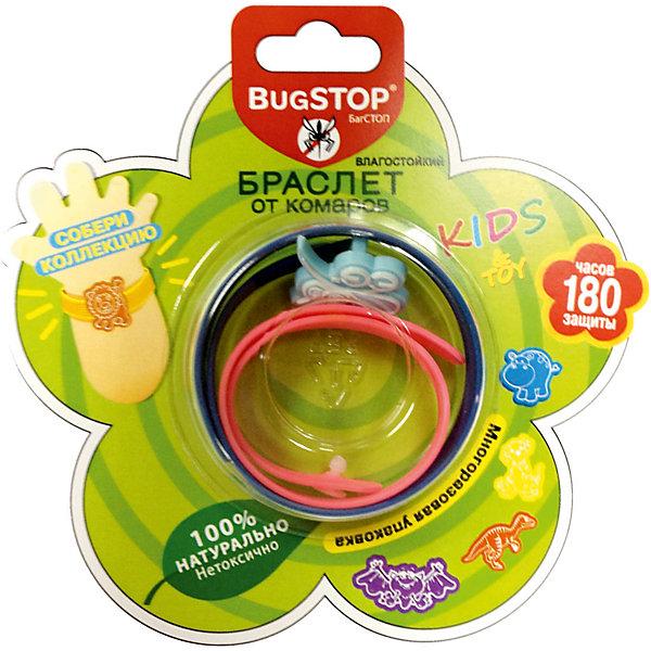 Детский браслет от комаров KIDS&amp;TOY, BugSTOPКосметика для малыша<br>Изготовлен из пластика (ПВД), 20% от объма составл.пропитка маслом травы цитронеллы.                                              В действии испарение паров репеллента не позволяет комарам приблизиться, обеспечивая индивид.защиту в радиусе до 3 метров.  Рекомендован к использованию на открытом воздухе, влагостоек. Разл.рисунки в миксе упаковки. Общий срок службы не менее 180 ч. защиты.   Для сохранения действия может храниться в заводской упаковке (прозр.короб на блистере).  Специфич.противопоказаний не имеет. рекомендован к использованию на открытом воздухе. Разрешен к применению детям в возрасте от 3 лет.<br><br>Детский браслет от комаров KIDS&amp;TOY, BugSTOP можно купить в нашем магазине.<br><br>Ширина мм: 130<br>Глубина мм: 18<br>Высота мм: 13<br>Вес г: 16<br>Возраст от месяцев: 36<br>Возраст до месяцев: 144<br>Пол: Унисекс<br>Возраст: Детский<br>SKU: 4667897