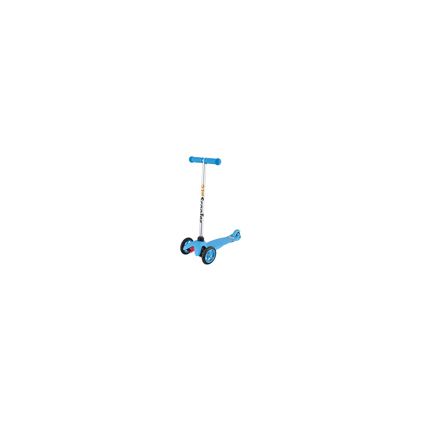 Самокат трехколесный Maxi Scooter, голубой, 21st scooTer21st scooter MaxiScooter (SKL-06A) - детский трехколесный самокат с амортизацией передней вилки. Самокат имеет уникальную запатентованную систему управления. Гибкая подножка сделана из мягкого пластика усиленного стекловолокном, что исключает риск травмирования ребенка об нее.За счет своей устойчивости и плавности хода, SKL-06A очень просто освоить. Самокат изготовлен из высококачественных материалов. Он отлично способствует развитию опорно-двигательного аппарата ребенка его координацию движения и навыки балансировки.<br><br>Дополнительная информация:<br><br>Вес: 2,6 кг.<br>Максимальная нагрузка: до 40 кг.<br>Материал: алюминий, полипропилен, стеклопластик<br>Колеса: полиуретановые литые колеса PU<br>Диаметр колес: передние 120 мм, заднее 80 мм.<br>Подшипники: ABEC-1<br>Тормоз: задний тормоз наступающий (step-on brake)<br>Размеры: 67х23х53,5 см.<br>Размер платформы: 52х11 см. <br>Размер коробки  30*39*15<br><br>Самокат трехколесный Maxi Scooter, голубой, 21st scooTer можно купить в нашем магазине.<br><br>Ширина мм: 610<br>Глубина мм: 450<br>Высота мм: 390<br>Вес г: 2600<br>Возраст от месяцев: 36<br>Возраст до месяцев: 96<br>Пол: Унисекс<br>Возраст: Детский<br>SKU: 4669789