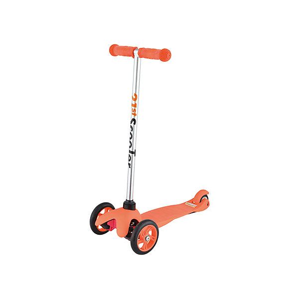 Самокат трехколесный Maxi Scooter, оранжевый, 21st scooTerСамокаты<br>21st scooter MaxiScooter (SKL-06A) - детский трехколесный самокат с амортизацией передней вилки. Самокат имеет уникальную запатентованную систему управления. Гибкая подножка сделана из мягкого пластика усиленного стекловолокном, что исключает риск травмирования ребенка об нее.За счет своей устойчивости и плавности хода, SKL-06A очень просто освоить. Самокат изготовлен из высококачественных материалов. Он отлично способствует развитию опорно-двигательного аппарата ребенка его координацию движения и навыки балансировки.<br><br>Дополнительная информация:<br><br>Вес: 2,6 кг.<br>Максимальная нагрузка: до 40 кг.<br>Материал: алюминий, полипропилен, стеклопластик<br>Колеса: полиуретановые литые колеса PU<br>Диаметр колес: передние 120 мм, заднее 80 мм.<br>Подшипники: ABEC-1<br>Тормоз: задний тормоз наступающий (step-on brake)<br>Размеры: 67х23х53,5 см.<br>Размер платформы: 52х11 см.<br>Размер коробки  30*39*15<br><br>Самокат трехколесный Maxi Scooter, оранжевый, 21st scooTer можно купить в нашем магазине.<br>Ширина мм: 610; Глубина мм: 450; Высота мм: 390; Вес г: 2600; Возраст от месяцев: 36; Возраст до месяцев: 96; Пол: Унисекс; Возраст: Детский; SKU: 4669791;