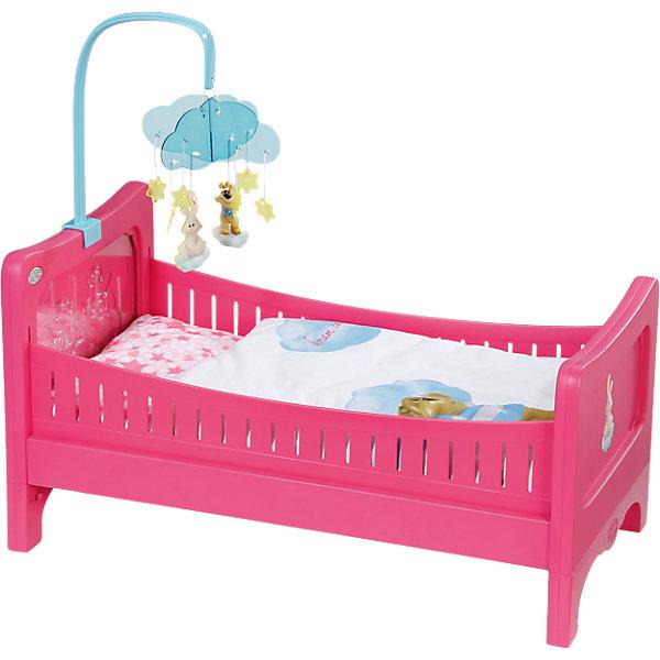 Кровать, BABY bornМебель для кукол<br>Характеристики товара:<br><br>- цвет: разноцветный;<br>- материал: пластик;<br>- особенности: с подвеской;<br>- размер упаковки: 50х13х32 см;<br>- рекомендуемый возраст: 3-8 лет.<br><br>Такие красивые акессуары для куклы не оставят ребенка равнодушным! Какая девочка откажется поиграть с кроваткой, которая так похожа на настоящую?! Игрушка отлично детализирована, очень качественно выполнена, поэтому она станет отличным подарком ребенку. Кроватка дополнена симпатичной подвеской! <br>Изделие произведено из высококачественного материала, безопасного для детей.<br><br>Кровать, BABY born можно купить в нашем интернет-магазине.<br><br>Ширина мм: 505<br>Глубина мм: 325<br>Высота мм: 129<br>Вес г: 2017<br>Возраст от месяцев: 36<br>Возраст до месяцев: 60<br>Пол: Женский<br>Возраст: Детский<br>SKU: 4674537