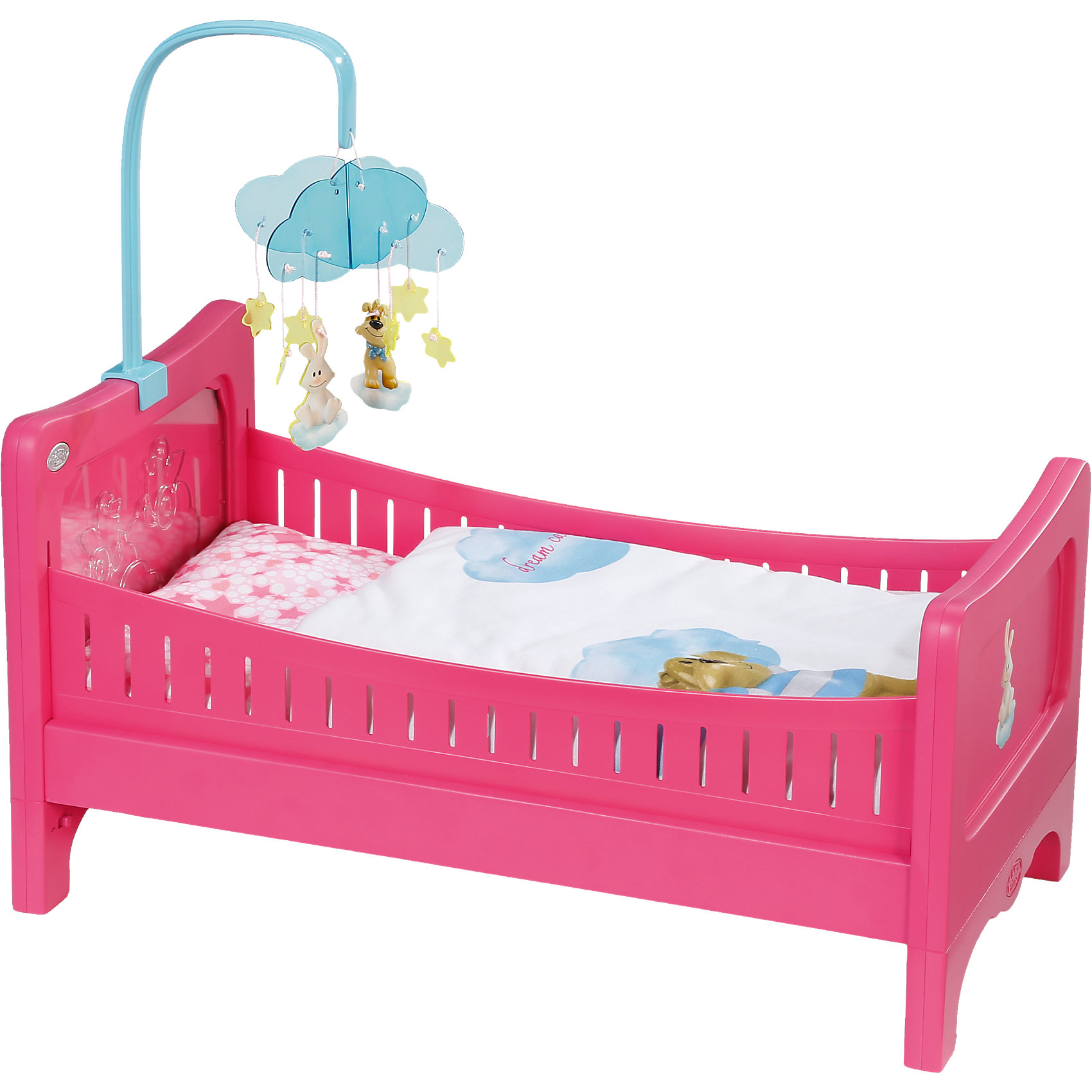 Кровать, BABY bornХарактеристики товара:<br><br>- цвет: разноцветный;<br>- материал: пластик;<br>- особенности: с подвеской;<br>- размер упаковки: 50х13х32 см;<br>- рекомендуемый возраст: 3-8 лет.<br><br>Такие красивые акессуары для куклы не оставят ребенка равнодушным! Какая девочка откажется поиграть с кроваткой, которая так похожа на настоящую?! Игрушка отлично детализирована, очень качественно выполнена, поэтому она станет отличным подарком ребенку. Кроватка дополнена симпатичной подвеской! <br>Изделие произведено из высококачественного материала, безопасного для детей.<br><br>Кровать, BABY born можно купить в нашем интернет-магазине.<br><br>Ширина мм: 505<br>Глубина мм: 325<br>Высота мм: 129<br>Вес г: 2017<br>Возраст от месяцев: 36<br>Возраст до месяцев: 60<br>Пол: Женский<br>Возраст: Детский<br>SKU: 4674537