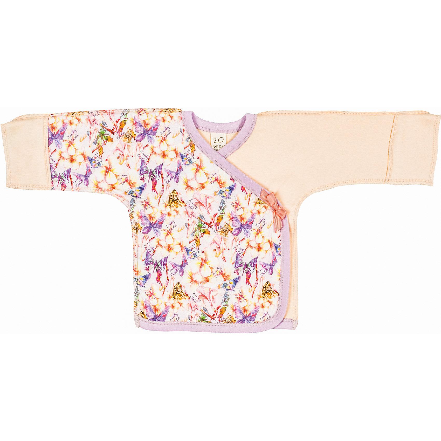 Lucky Child Распашонка (2 шт.) для девочки Lucky Child пижамы lucky child пижама