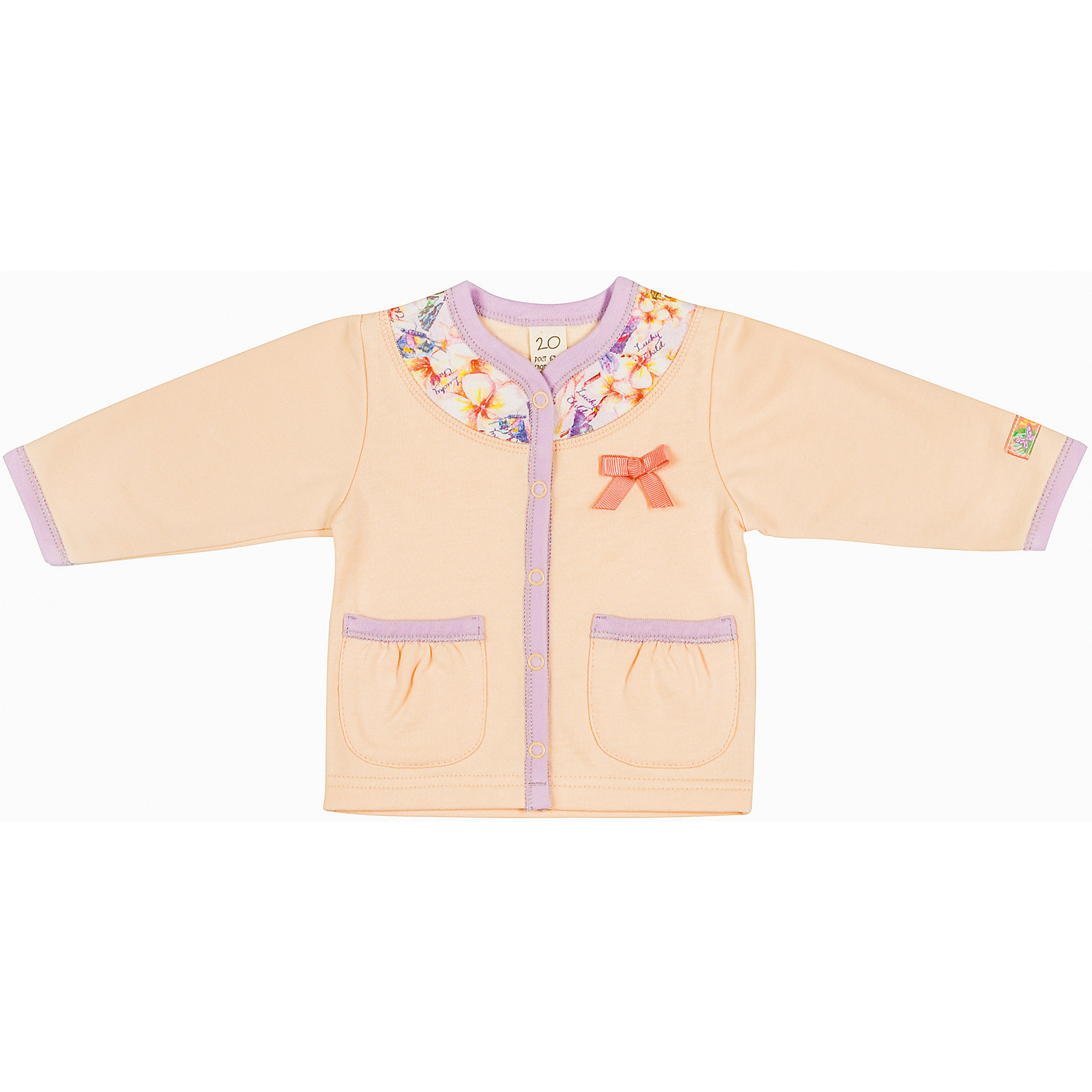 Lucky Child Кофточка для девочки Lucky Child пижамы lucky child пижама