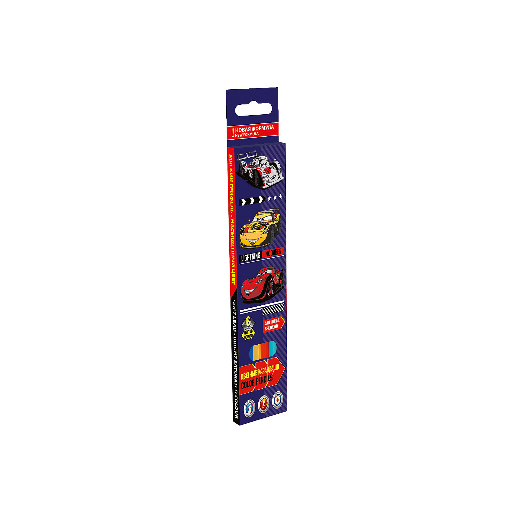 Цветные карандаши, 6 шт, ТачкиЦветные карандаши - необходимый инструмент для детского творчества и школьных занятий. Цветные карандаши Тачки оформлены в яркую картонную упаковку с изображением персонажей из популярного диснеевского мультфильма Cars. В комплекте 6 шестигранных<br>карандашей разных цветов, изготовленных из древесины липы.<br><br><br>Дополнительная информация:<br><br>- В комплекте: 6 шт.<br>- Толщина грифеля: 3 мм.<br>- Длина карандаша: 17,8 см. <br>- Размер упаковки: 21,5 х 1 х 5 см.<br>- Вес: 60 гр.<br><br>Цветные карандаши, 6 шт., 6 цв., Тачки, можно купить в нашем интернет-магазине.<br><br>Ширина мм: 215<br>Глубина мм: 50<br>Высота мм: 10<br>Вес г: 33<br>Возраст от месяцев: 60<br>Возраст до месяцев: 84<br>Пол: Мужской<br>Возраст: Детский<br>SKU: 4681053