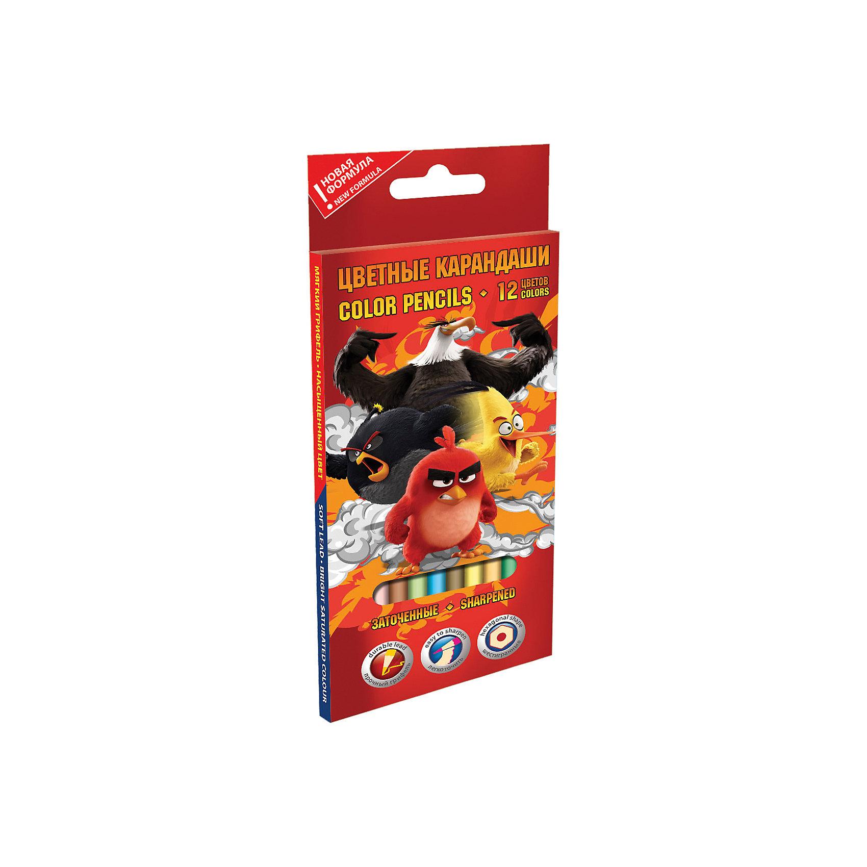 Цветные карандаши, 12 шт, Angry BirdsЦветные карандаши - необходимый инструмент для детского творчества и школьных занятий. Цветные карандаши Angry Birds оформлены в красочную картонную коробочку с изображением персонажей из нового мультфильма про популярных птичек Angry Birds. В комплекте 12<br>шестигранных карандашей разных цветов, изготовленных из древесины тополя.<br><br><br>Дополнительная информация:<br><br>- В комплекте: 12 шт.<br>- Толщина грифеля: 2,65 мм.<br>- Длина карандаша: 17,8 см. <br>- Размер упаковки: 21 х 0,9 х 8,5 см.<br>- Вес: 60 гр.<br><br>Цветные карандаши, Angry Birds, можно купить в нашем интернет-магазине.<br><br>Ширина мм: 210<br>Глубина мм: 85<br>Высота мм: 10<br>Вес г: 45<br>Возраст от месяцев: 96<br>Возраст до месяцев: 108<br>Пол: Мужской<br>Возраст: Детский<br>SKU: 4681056