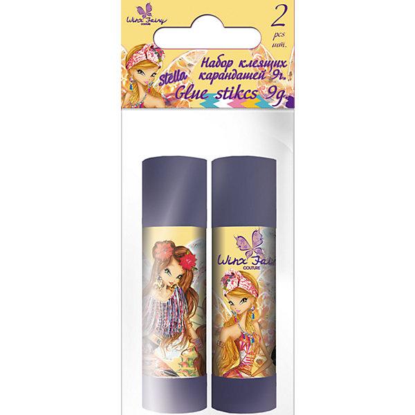 Набор клей-карандашей (2 шт), 9 г, Winx Fairy CoutureШкольные аксессуары<br>Набор клей-карандашей, 9 гр., 2 шт., Winx Fairy Couture<br><br>Этот клей-карандаш для склеивания бумаги и картона разработан специально для детей, осваивающих процесс творчества. В наборе - 2 флакона клея по 9 г. Процесс склеивания поможет развивать усидчивость, воображение, образное восприятие мира, а также мелкую моторику рук. <br>Клей сделан из безопасных для детей материалов, на основе ПВА. Удобная упаковка - коробка с подвесом - поможет хранить клей и не терять. Флаконы украшены изображением героев мультфильма про фей Winx.<br><br>Особенности товара:<br><br>комплектация: 2 шт;<br>упаковка: коробка с подвесом;<br>размер: 12 х 5 х 2 см;<br>вес 1 флакона: 9 г.<br><br>Набор клей-карандашей, 9 гр., 2 шт., Winx Fairy Couture можно купить в нашем магазине.<br><br>Ширина мм: 20<br>Глубина мм: 50<br>Высота мм: 120<br>Вес г: 44<br>Возраст от месяцев: 96<br>Возраст до месяцев: 108<br>Пол: Женский<br>Возраст: Детский<br>SKU: 4681061