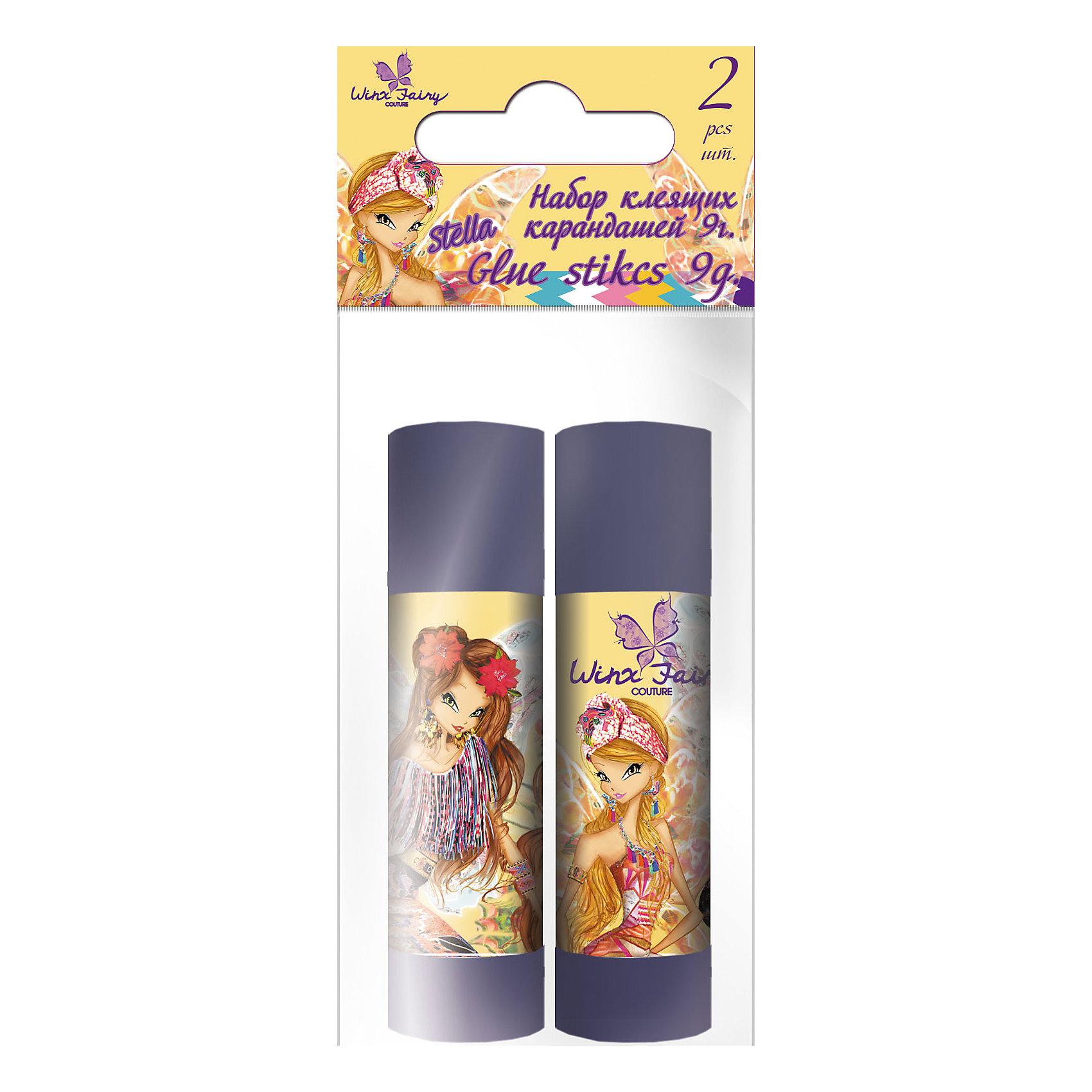 Академия групп Набор клей-карандашей (2 шт), 9 г, Winx Fairy Couture