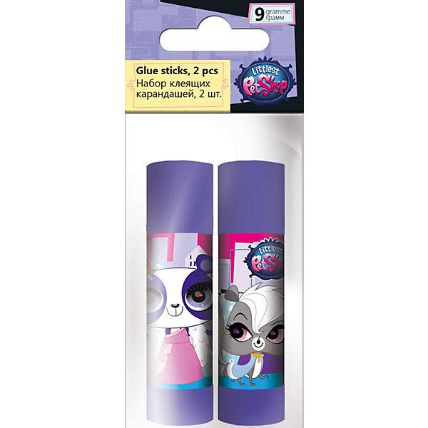 Набор клея ПВА, 2 шт. по 9 г., Littlest Pet ShopLittlest Pet Shop<br>Набор клея ПВА, Littlest Pet Shop, прекрасно подойдет для склеивания всех видов бумаги и картона. В комплекте два пластиковых флакона фиолетовой расцветки, украшенных изображением забавных зверюшек из популярного мультсериала Маленький зоомагазин. Клей белого цвета легко наносится. Упаковка - ПП пакет с подвесом.<br><br><br>Дополнительная информация:<br><br>- В комплекте: 2 флакона по 9 гр.<br>- Размер упаковки: 12 х 2 х 5 см.<br>- Вес: 38 гр.<br><br>Набор клея ПВА, 2 шт. по 9 г., Littlest Pet Shop, можно купить в нашем интернет-магазине.<br><br>Ширина мм: 20<br>Глубина мм: 50<br>Высота мм: 120<br>Вес г: 38<br>Возраст от месяцев: 60<br>Возраст до месяцев: 84<br>Пол: Женский<br>Возраст: Детский<br>SKU: 4681065