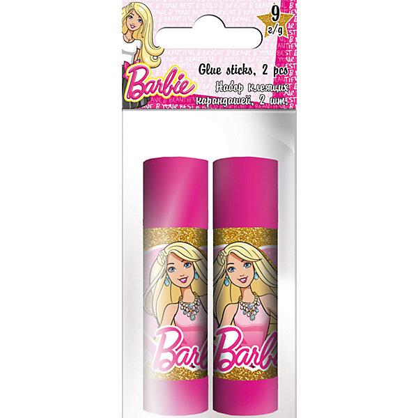Набор клея ПВА, 2 шт. по 9 г., BarbieШкольные аксессуары<br>Набор клея ПВА, Barbie, прекрасно подойдет для склеивания всех видов бумаги и картона. В комплекте два пластиковых флакона ярко-розовой расцветки, украшенных изображением популярной куклы Барби. Клей белого цвета легко наносится. Упаковка - ПП пакет с подвесом.<br><br><br>Дополнительная информация:<br><br>- В комплекте: 2 флакона по 9 гр.<br>- Размер упаковки: 12 х 2 х 5 см.<br>- Вес: 38 гр.<br><br>Набор клея ПВА, 2 шт. по 9 г., Barbie, можно купить в нашем интернет-магазине.<br>Ширина мм: 20; Глубина мм: 50; Высота мм: 120; Вес г: 38; Возраст от месяцев: 96; Возраст до месяцев: 108; Пол: Женский; Возраст: Детский; SKU: 4681068;
