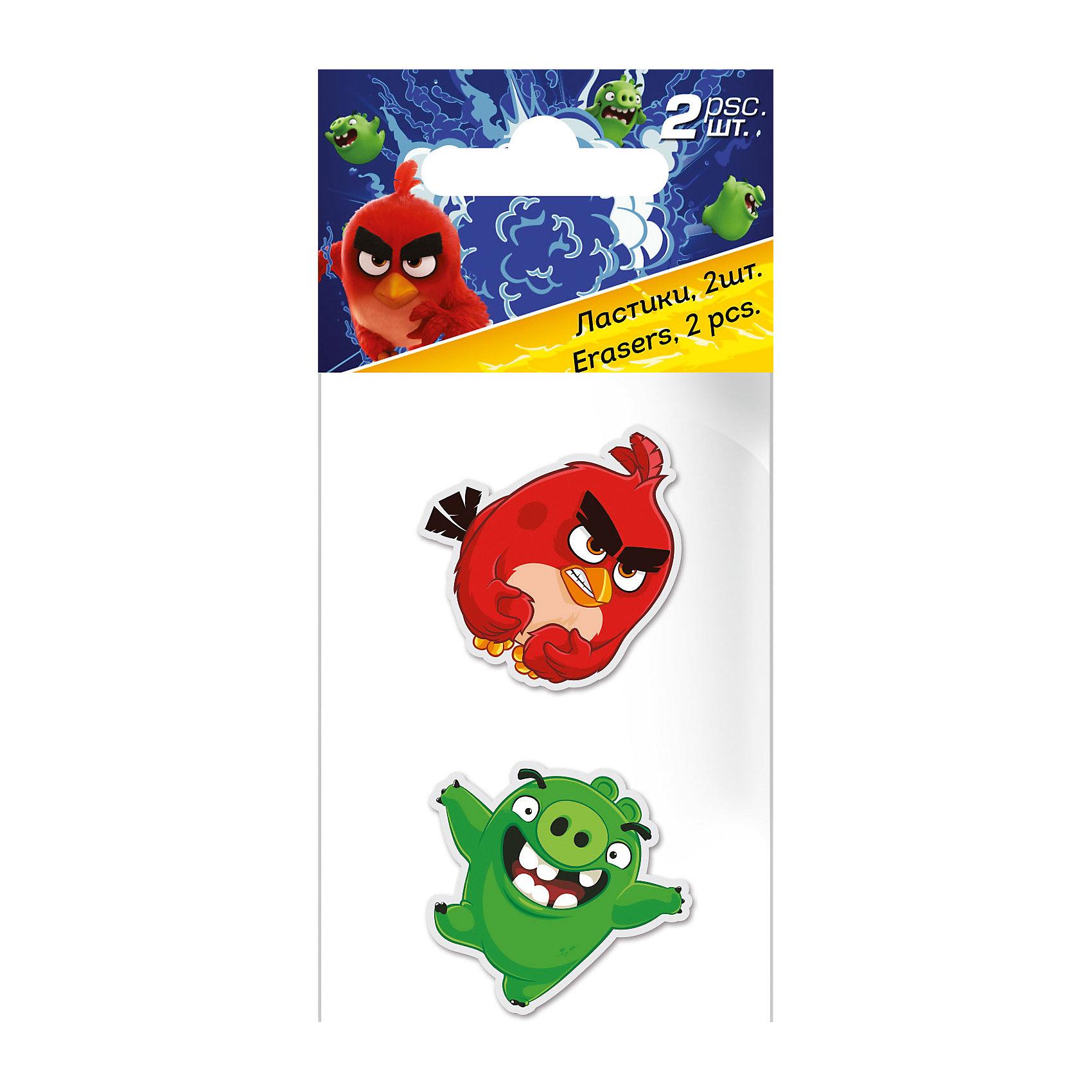 Набор ластиков, 2 шт., Angry BirdsЯркие канцелярские принадлежности с привлекательным дизайном сделают школьные занятия веселее и поднимут настроение маленькому школьнику. Ластики Angry Birds выполнены в виде фигурок персонажей популярной компьютерной игры Angry Birds (красная птичка и свинка).<br>Подходят для графитовых и цветных карандашей, хорошо стирают, не рвут бумагу и не оставляют грязных разводов. Набор оформлен в ПП пакет с подвесом. <br><br><br>Дополнительная информация:<br><br>- В комплекте: 2 шт.<br>- Материал: мягкая резина. <br>- Размер упаковки: 13 х 6 х 1 см.<br>- Вес: 30 гр.<br><br>Набор ластиков, 2 шт., Angry Birds, можно купить в нашем интернет-магазине.<br><br>Ширина мм: 130<br>Глубина мм: 60<br>Высота мм: 10<br>Вес г: 30<br>Возраст от месяцев: 96<br>Возраст до месяцев: 108<br>Пол: Мужской<br>Возраст: Детский<br>SKU: 4681072