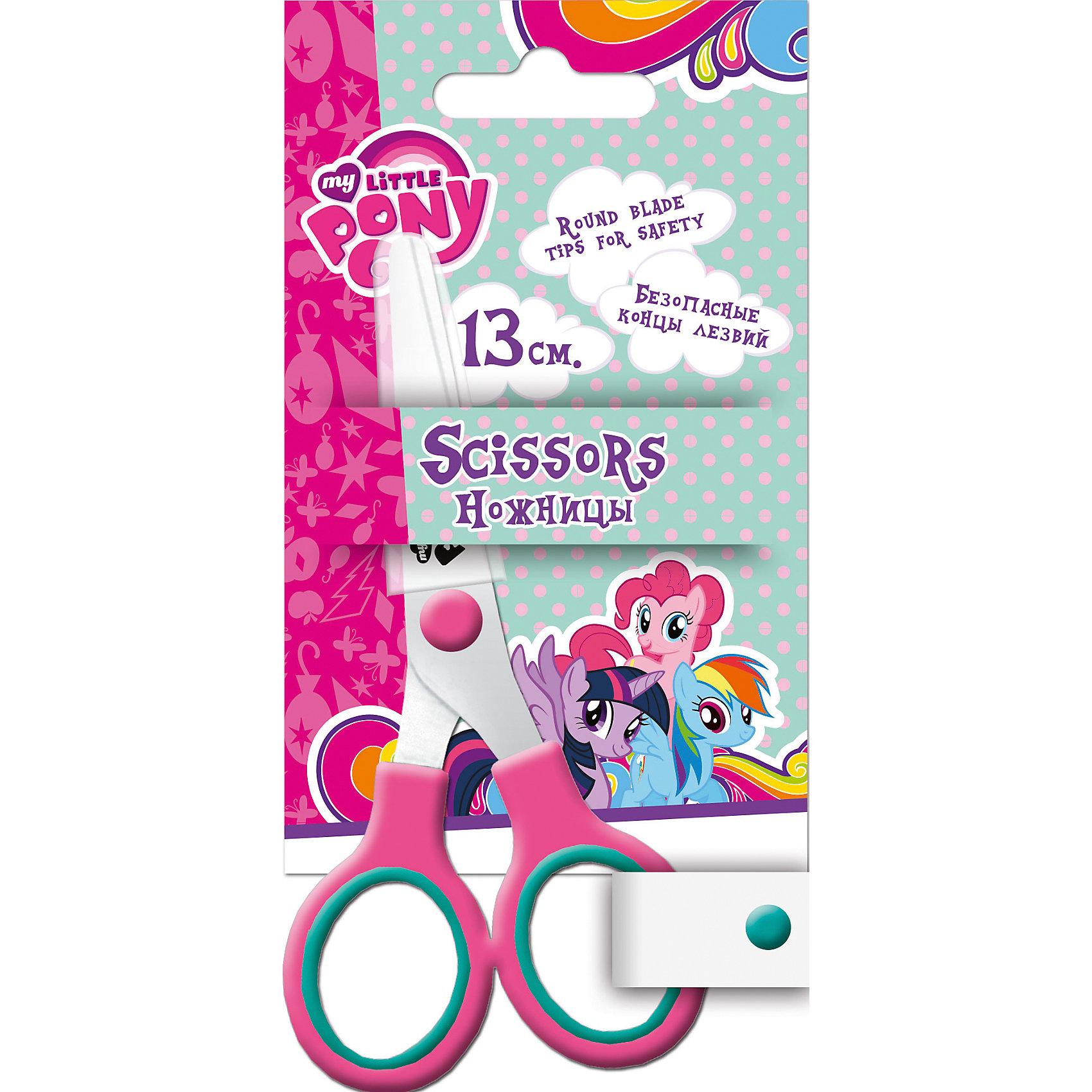Ножницы в чехле, 13 см, My Little PonyЯркие канцелярские принадлежности с привлекательным дизайном и изображениями любимых героев сделают школьные занятия веселее и поднимут настроение маленькой школьнице. Детские ножницы My Little Pony оснащены пластиковыми ручками розового цвета и безопасными<br>закругленными концами лезвий. Имеется пластиковый чехол для безопасного использования и хранения. Блистерная упаковка с подвесом украшена изображением волшебных лошадок из популярного мультсериала Мой маленький пони.<br><br>Дополнительная информация:<br><br>- Материал: нержавеющая сталь, пластик. <br>- Длина ножниц: 13 см.<br>- Размер упаковки: 16 x 1 х 8 см.<br>- Вес: 42 гр.<br><br>Ножницы, 13 см., My Little Pony, можно купить в нашем интернет-магазине.<br><br>Ширина мм: 160<br>Глубина мм: 80<br>Высота мм: 10<br>Вес г: 35<br>Возраст от месяцев: 60<br>Возраст до месяцев: 84<br>Пол: Женский<br>Возраст: Детский<br>SKU: 4681080