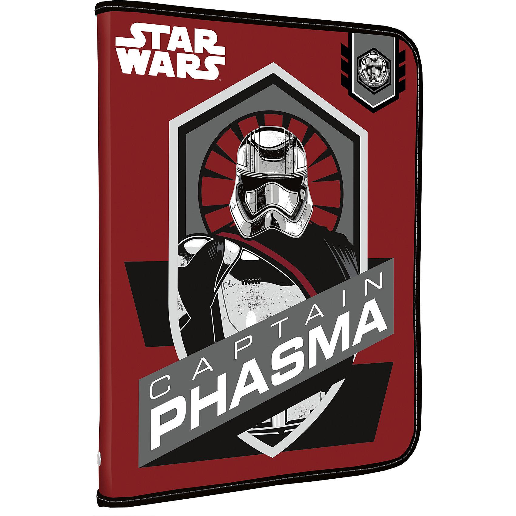 Академия групп Папка А5+ на молнии, Star Wars академия групп пластиковая папка чемодан 26 33 5 5 см тачки