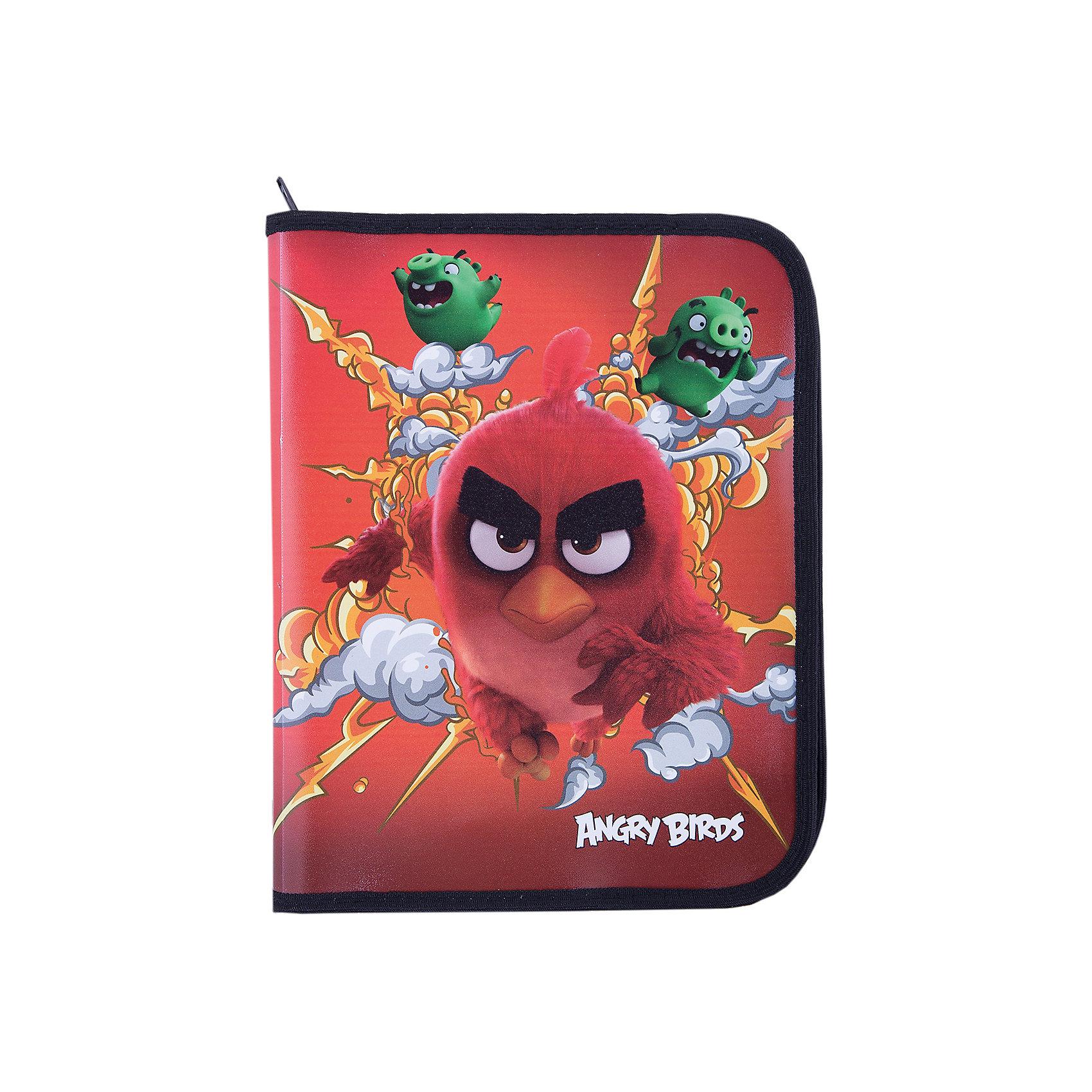 Папка А5+ на молнии, Angry BirdsПапки для труда<br>Папка на молнии, Angry Birds - яркий практичный аксессуар, который порадует маленького школьника и поможет сохранить школьные принадлежности в чистоте и аккуратности. В нарядной папке формата А5+ можно хранить тетрадки, рисунки, чертежи. Папка выполнена по мотивам<br>нового мультфильма про популярных птичек Angry Birds и украшена изображениями его персонажей. Внутри одно отделение, застежка на молнии.<br><br><br>Дополнительная информация:<br><br>- Материал: полипропилен.<br>- Формат: А5+.<br>- Размер: 24 х 2,5 х 18,5 см.  <br>- Вес: 60 гр.<br><br>Папку на молнии, Angry Birds, можно купить в нашем интернет-магазине.<br><br>Ширина мм: 240<br>Глубина мм: 185<br>Высота мм: 25<br>Вес г: 60<br>Возраст от месяцев: 96<br>Возраст до месяцев: 108<br>Пол: Мужской<br>Возраст: Детский<br>SKU: 4681098