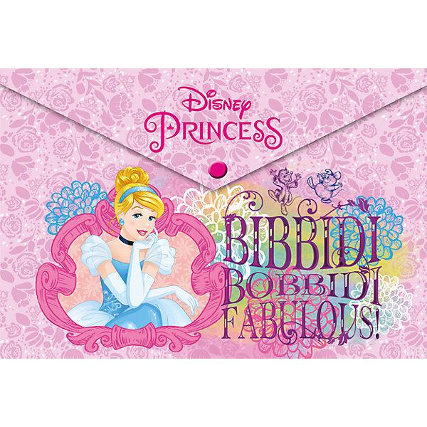 Папка-конверт А4 с застежкой, Принцессы ДиснейПринцессы Товары для фанатов<br>Характеристики Товара:<br><br>• размер: 23,5х33 см<br>• формат: А4<br>• материал: пластик<br>• принт: принцессы Дисней<br>• застежка: кнопка<br>• одно отделение<br><br>Хранить бумаги и тетради приятнее всего в красивой папке! Такое изделие поможет ребенку аккуратно складывать и всегда иметь под рукой нужные бумаги. Удобный формат, надежная застежка, яркие цвета, качественное исполнение!<br>Что особенно понравится девочкам - изделие украшено ярким красивым принтом с принцессами Диснея. Подруги будут завидовать! Отличный вариант маленького подарка для девочек. Товар производится из качественных и проверенных материалов, которые безопасны для детей.<br><br>Пластиковую папку-конверт с застежкой, Принцессы Дисней, можно купить в нашем интернет-магазине.<br>Ширина мм: 330; Глубина мм: 235; Высота мм: 30; Вес г: 25; Возраст от месяцев: 60; Возраст до месяцев: 84; Пол: Женский; Возраст: Детский; SKU: 4681104;