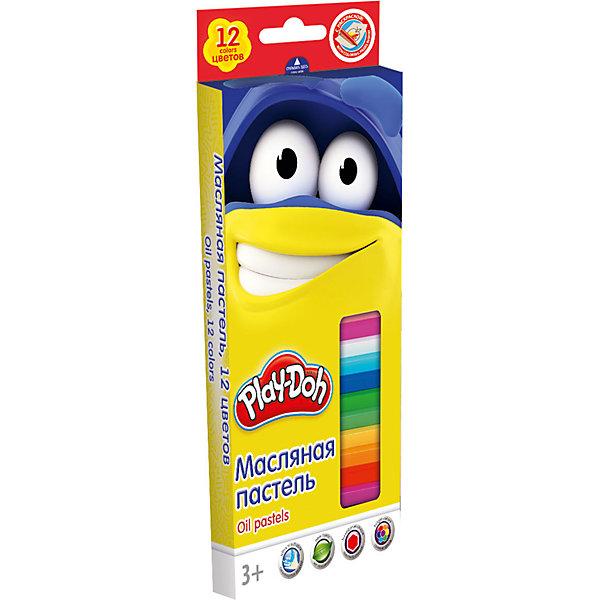 Масляная пастель (12 цветов) + 2 раскраски, Play-DohМасляные и восковые мелки<br>Масляная пастель, Play-Doh, замечательно подойдет для детского творчества и школьных занятий. В комплекте 12 разноцветных пастельных мелков, упакованных в нарядную коробочку с забавным рисунком. Благодаря своей мягкости, они прекрасно рисуют и обладают<br>насыщенными цветами, легко смешиваются между собой. Пастель легко ложится на бумагу с большей цветовой плотностью и создает мягкие штрихи. Она не выгорает на солнце, не темнеет и не трескается. Все мелки покрыты специальной бумажной оберткой, чтобы ребенок не<br>испачкался во время рисования. Пастель хорошо смываются обычной водой, не оставляя следов на руках и одежде. В комплект также входят две раскраски.<br><br><br>Дополнительная информация:<br><br>- В комплекте: 12 цветов, 2 раскраски.<br>- Размер 1 мелка: длина - 7,2 см., диаметр - 1,1 см. <br>- Размер упаковки: 19,8 х 1,8 х 8,8 см.<br>- Вес: 131 гр.<br><br>Масляную пастель,12 цветов, 2 раскраски, Play-Doh, можно купить в нашем интернет-магазине.<br><br>Ширина мм: 18<br>Глубина мм: 88<br>Высота мм: 198<br>Вес г: 131<br>Возраст от месяцев: 36<br>Возраст до месяцев: 72<br>Пол: Унисекс<br>Возраст: Детский<br>SKU: 4681128