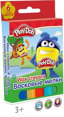 Академия групп Восковые мелки, 6 шт, Play-Doh