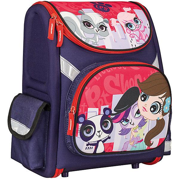Школьный рюкзак, Littlest Pet ShopLittlest Pet Shop Товары для школы<br>Рюкзак Littlest Pet Shop - прекрасный вариант для школьных занятий. Рюкзак изготовлен из прочного полиэстера и имеет привлекательный для девочек дизайн в яркой расцветке с изображением забавных зверюшек из популярного мультсериала Маленький зоомагазин. Корпус<br>рюкзака, эргономичная спинка, дно и крышка изготовлены из современного материала EVA. Широкие анатомические лямки, регулируемые по длине, равномерно распределяют нагрузку на плечевой пояс. Также есть удобная прорезиненная ручка, за которую можно нести рюкзак. <br><br>Рюкзак закрывается на застежку-молнию, внутри одно просторное вместительное отделение с двумя разделителями и утягивающей резинкой. На лицевой стороне рюкзака расположен большой накладной карман, закрывающийся на молнию, также имеются карманы по бокам рюкзака.<br>Светоотражающие вставки повышают безопасность ребенка на дороге.<br><br><br>Дополнительная информация:<br><br>- Материал: полиэстер.  <br>- Размер: 35 х 31 х 14 см.<br>- Вес: 0,83 кг.<br><br>Рюкзак, Littlest Pet Shop, можно купить в нашем интернет-магазине.<br>Ширина мм: 310; Глубина мм: 140; Высота мм: 350; Вес г: 830; Возраст от месяцев: 72; Возраст до месяцев: 144; Пол: Женский; Возраст: Детский; SKU: 4681142;