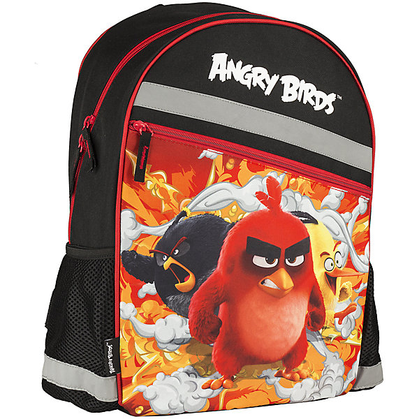 Школьный рюкзак Angry BirdsAngry Birds<br>Рюкзак, Angry Birds - прекрасный вариант для школьных занятий. Рюкзак выполнен из прочного полиэстера и имеет оригинальный дизайн по мотивам нового мультфильма про популярных птичек Angry Birds. Мягкая спинка из поролона обтянута воздухообменной сеткой. Широкие<br>мягкие лямки, регулируемые по длине, равномерно распределяют нагрузку на плечевой пояс. Также есть удобная текстильная ручка, за которую можно нести ранец. Ранец закрывается на застежку-молнию, внутри большое просторное отделение с одним открытым карманом и<br>карманом на молнии. По бокам расположены два маленьких сетчатых кармана. Светоотражающие элементы повышают безопасность ребенка на дороге.<br><br><br>Дополнительная информация:<br><br>- Материал: полиэстер. <br>- Объем: 19,2 л.<br>- Размер: 40 х 30 х 16 см.<br>- Вес: 0,46 кг.<br><br>Рюкзак, Angry Birds, можно купить в нашем интернет-магазине.<br><br>Ширина мм: 300<br>Глубина мм: 160<br>Высота мм: 400<br>Вес г: 460<br>Возраст от месяцев: 72<br>Возраст до месяцев: 108<br>Пол: Мужской<br>Возраст: Детский<br>SKU: 4681151