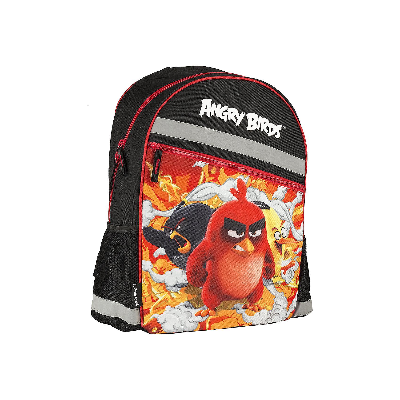 Школьный рюкзак Angry BirdsAngry Birds<br>Рюкзак, Angry Birds - прекрасный вариант для школьных занятий. Рюкзак выполнен из прочного полиэстера и имеет оригинальный дизайн по мотивам нового мультфильма про популярных птичек Angry Birds. Мягкая спинка из поролона обтянута воздухообменной сеткой. Широкие<br>мягкие лямки, регулируемые по длине, равномерно распределяют нагрузку на плечевой пояс. Также есть удобная текстильная ручка, за которую можно нести ранец. Ранец закрывается на застежку-молнию, внутри большое просторное отделение с одним открытым карманом и<br>карманом на молнии. По бокам расположены два маленьких сетчатых кармана. Светоотражающие элементы повышают безопасность ребенка на дороге.<br><br><br>Дополнительная информация:<br><br>- Материал: полиэстер. <br>- Объем: 19,2 л.<br>- Размер: 40 х 30 х 16 см.<br>- Вес: 0,46 кг.<br><br>Рюкзак, Angry Birds, можно купить в нашем интернет-магазине.<br><br>Ширина мм: 300<br>Глубина мм: 160<br>Высота мм: 400<br>Вес г: 460<br>Возраст от месяцев: 96<br>Возраст до месяцев: 108<br>Пол: Мужской<br>Возраст: Детский<br>SKU: 4681151