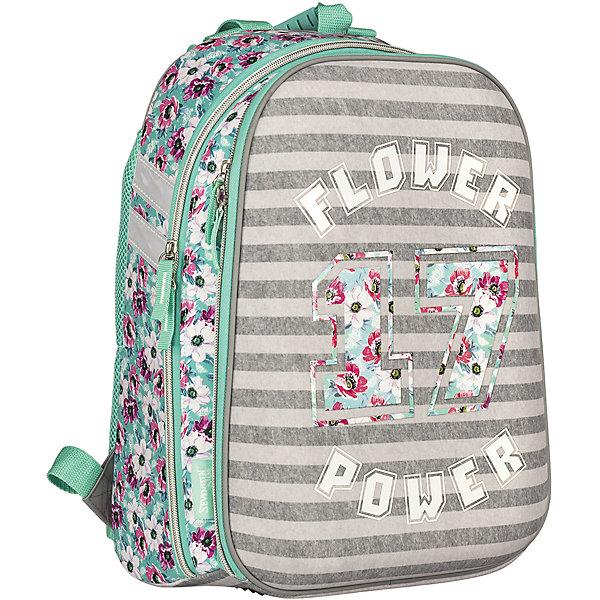 Школьный рюкзак, Seventeen KidsРанцы<br>Рюкзак, Seventeen Kids - прекрасный вариант для школьных занятий. Рюкзак выполнен из прочного полиэстера и имеет привлекательный для девочек дизайн с приятной полосатой расцветкой и цветочным принтом. Корпус рюкзака изготовлен из современного материала EVA.<br>Эргономичная спинка выполнена в виде накладок анатомической формы из нескольких слоев вспененных синтетических материалов и обтянута воздухообменной сеткой. Широкие мягкие лямки, регулируемые по длине, равномерно распределяют нагрузку на плечевой пояс. Жесткое<br>дно придает рюкзаку устойчивость и защищает от загрязнений. Также есть удобная прорезиненная ручка для переноски в руках. <br><br>Рюкзак имеет два отделения на молнии. Внутри основного отделения - секция для ноутбука или планшета и разделитель для книг и тетрадей, внутри второго отделения - открытый карман и карман для мобильного телефона, а также сетчатый карман. Светоотражающие элементы<br>повышают безопасность ребенка на дороге. Рекомендовано Научным центром здоровья детей РАМН.<br><br><br>Дополнительная информация:<br><br>- Материал: полиэстер. <br>- Размер: 38 х 28 х 6 см.<br>- Вес: 0,78 кг.<br><br>Рюкзак, Seventeen Kids, можно купить в нашем интернет-магазине.<br><br>Ширина мм: 280<br>Глубина мм: 60<br>Высота мм: 380<br>Вес г: 780<br>Возраст от месяцев: 72<br>Возраст до месяцев: 144<br>Пол: Женский<br>Возраст: Детский<br>SKU: 4681158