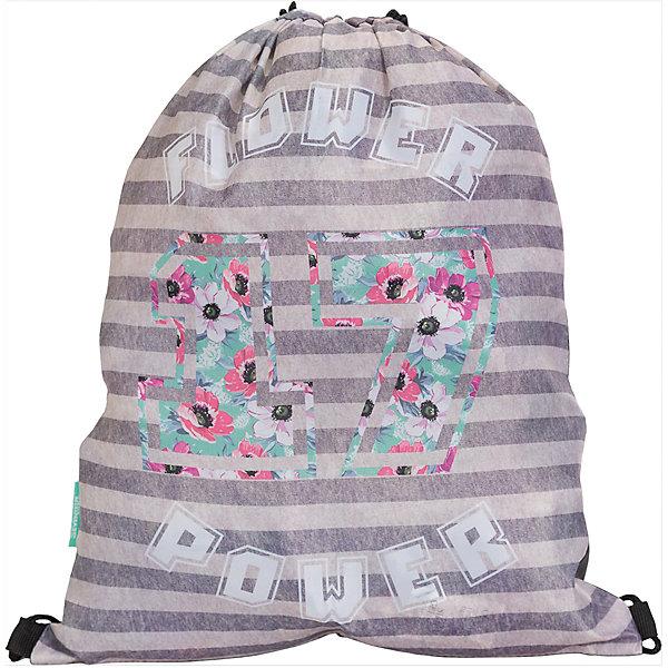 Мешок для обуви, Seventeen KidsМешки для обуви<br>Мешок для обуви, Seventeen Kids, идеально подойдет для сменной обуви маленькой школьницы и для физкультурной формы. Мешок изготовлен из прочного водостойкого материала приятной полосатой расцветкой и украшен цветочным принтом. Затягивается сверху при помощи<br>текстильных шнурков-лямок, которые фиксируются в нижней части, благодаря чему его можно носить за спиной как рюкзак.<br><br><br>Дополнительная информация:<br><br>- Материал: полиэстер.<br>- Размер: 43 х 1 х 34 см.<br>- Вес: 45 гр. <br><br>Мешок для обуви, Seventeen Kids, можно купить в нашем интернет-магазине.<br>Ширина мм: 430; Глубина мм: 340; Высота мм: 10; Вес г: 45; Возраст от месяцев: 84; Возраст до месяцев: 144; Пол: Женский; Возраст: Детский; SKU: 4681170;