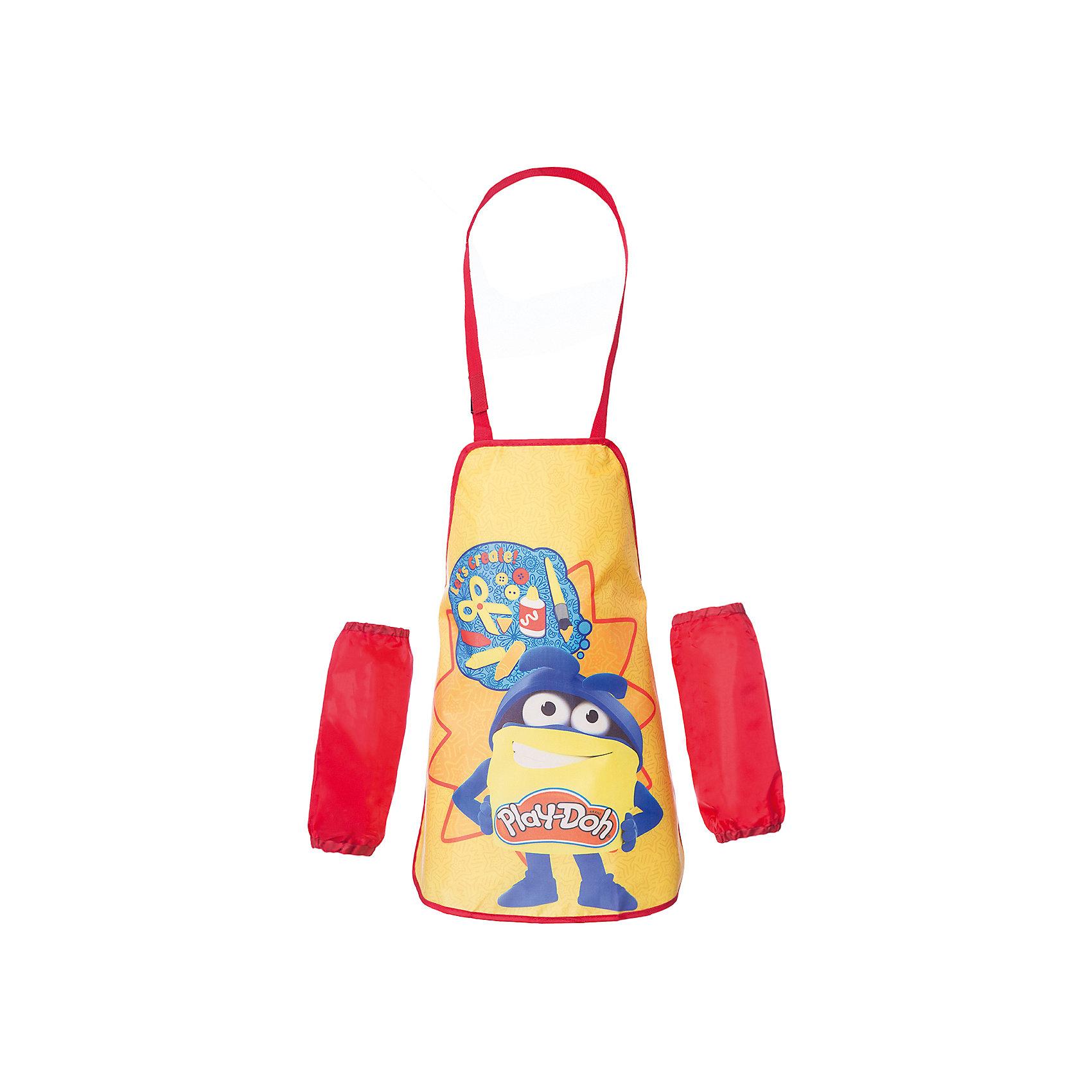 Фартук для творческих занятий, Play-DohРисование и лепка<br>Фартук, Play-Doh, замечательно подойдет для занятий творчеством или школьных уроков труда, благодаря ему одежда ребенка останется всегда чистой и аккуратной. У фартука удобный покрой, не стесняющий движений ребенка, завязывается с помощью регулируемых лямок на<br>шее и на талии. Фартук выполнен из водостойкого прочного материала яркой расцветки и украшен забавным рисунком. В комплект также входят нарукавники из плащевой ткани. Они фиксируются резинками сверху и снизу.<br><br><br>Дополнительная информация:<br><br>- Материал: полиэстер. <br>- Размер фартука: 51 х 44 см.<br>- Размер нарукавника: 11 х 25 см.<br>- Размер упаковки: 16,5 х 0,5 х 27 см.<br>- Вес: 75 гр.<br><br>Фартук для творческих занятий, Play-Doh, можно купить в нашем интернет-магазине.<br><br>Ширина мм: 5<br>Глубина мм: 165<br>Высота мм: 270<br>Вес г: 75<br>Возраст от месяцев: 36<br>Возраст до месяцев: 72<br>Пол: Унисекс<br>Возраст: Детский<br>SKU: 4681176
