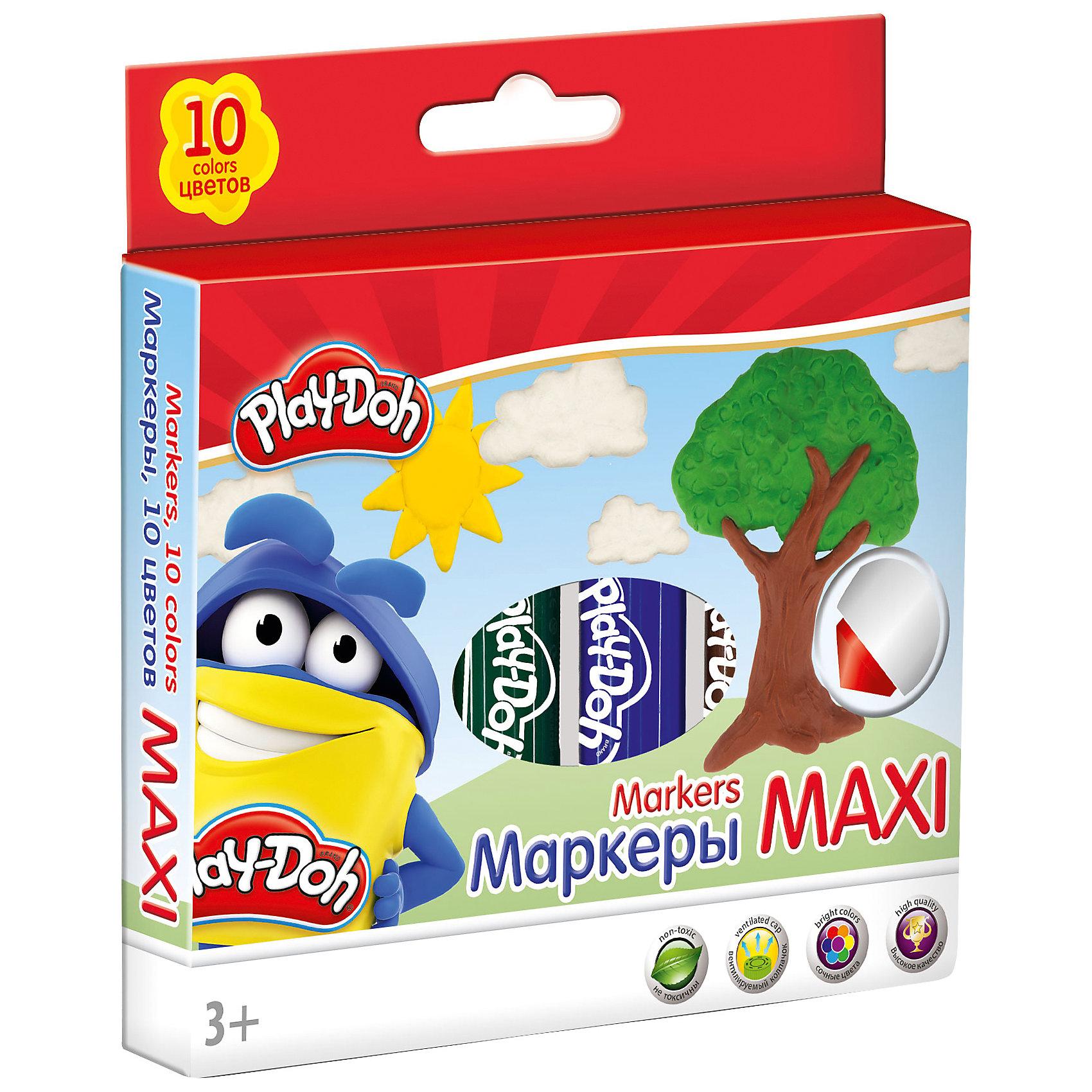 Набор фломастеров 10 шт., Play-DohРисование<br>Набор фломастеров Mega Jumbo, Play-Doh, прекрасно подойдет для детского творчества, рисования и оформительских работ. Фломастеры обладают яркими насыщенными цветами, а прочный утолщенный наконечник позволит рисовать без проблем. Корпус фломастеров изготовлен из<br>высококачественного нетоксичного пластика, нейлоновый стержень, увеличенное содержание чернил, улучшенный пишущий узел. Набор оформлен в красочную картонную упаковку с забавным рисунком. В комплекте 10 фломастеров разных цветов с вентилируемыми колпачками.<br>Утолщенная форма корпуса прививает навык правильно держать пишущий инструмент. Рисование развивает мелкую моторику, воображение, фантазию, а также творческие навыки.<br><br><br>Дополнительная информация:<br><br>- Количество фломастеров: 10 шт.<br>- Материал: пластик. <br>- Толщина стержня: 14 мм.<br>- Размер упаковки: 12,5 х 2,6 х 15,5 см.<br>- Вес: 0,214 кг.<br><br>Набор фломастеров 10 шт., Play-Doh, можно купить в нашем интернет-магазине.<br><br>Ширина мм: 125<br>Глубина мм: 155<br>Высота мм: 26<br>Вес г: 214<br>Возраст от месяцев: 36<br>Возраст до месяцев: 72<br>Пол: Унисекс<br>Возраст: Детский<br>SKU: 4681185