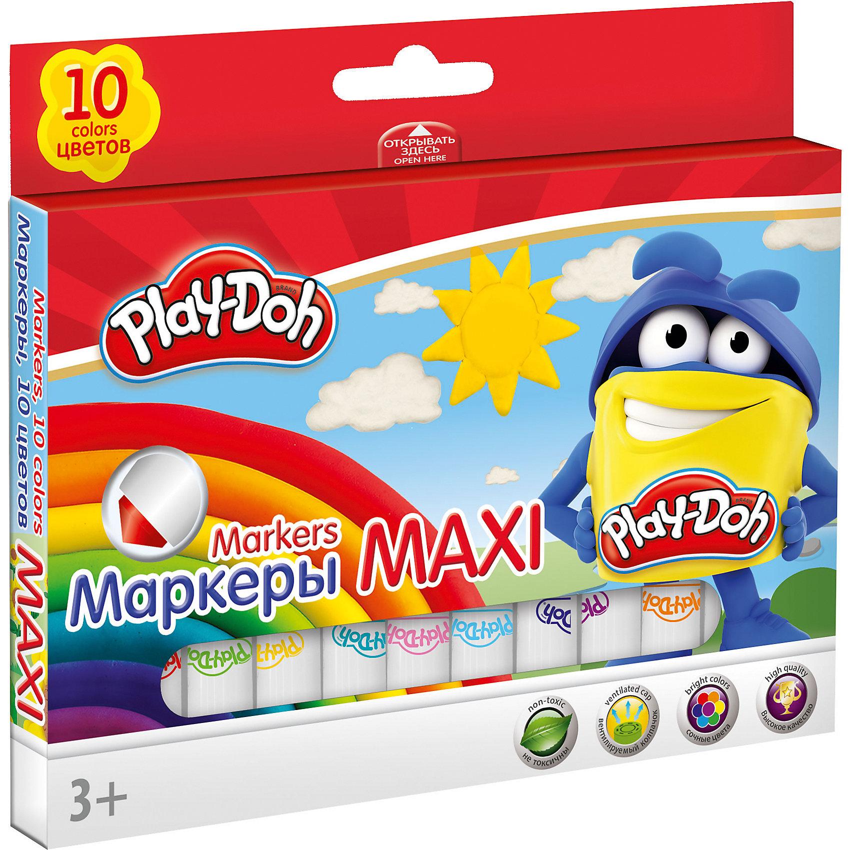 Набор фломастеров 10 шт., Play-DohРисование<br>Набор фломастеров Mega Jumbo, Play-Doh, прекрасно подойдет для детского творчества, рисования и оформительских работ. Фломастеры укороченной формы обладают яркими насыщенными цветами, а прочный утолщенный наконечник позволит рисовать без проблем. Корпус<br>фломастеров изготовлен из высококачественного нетоксичного пластика, нейлоновый стержень, увеличенное содержание чернил, улучшенный пишущий узел. Набор оформлен в красочную картонную упаковку с забавным рисунком. В комплекте 10 фломастеров разных цветов с<br>вентилируемыми колпачками. Утолщенная форма корпуса прививает навык правильно держать пишущий инструмент. Рисование развивает мелкую моторику, воображение, фантазию, а также творческие навыки.<br><br><br>Дополнительная информация:<br><br>- Количество фломастеров: 10 шт.<br>- Материал: пластик. <br>- Толщина стержня: 7,5 мм.<br>- Размер упаковки: 15,5 х 1,5 х 15,5 см.<br>- Вес: 108 гр.<br><br>Набор фломастеров 10 шт., Play-Doh, можно купить в нашем интернет-магазине.<br><br>Ширина мм: 105<br>Глубина мм: 155<br>Высота мм: 15<br>Вес г: 108<br>Возраст от месяцев: 36<br>Возраст до месяцев: 72<br>Пол: Унисекс<br>Возраст: Детский<br>SKU: 4681186