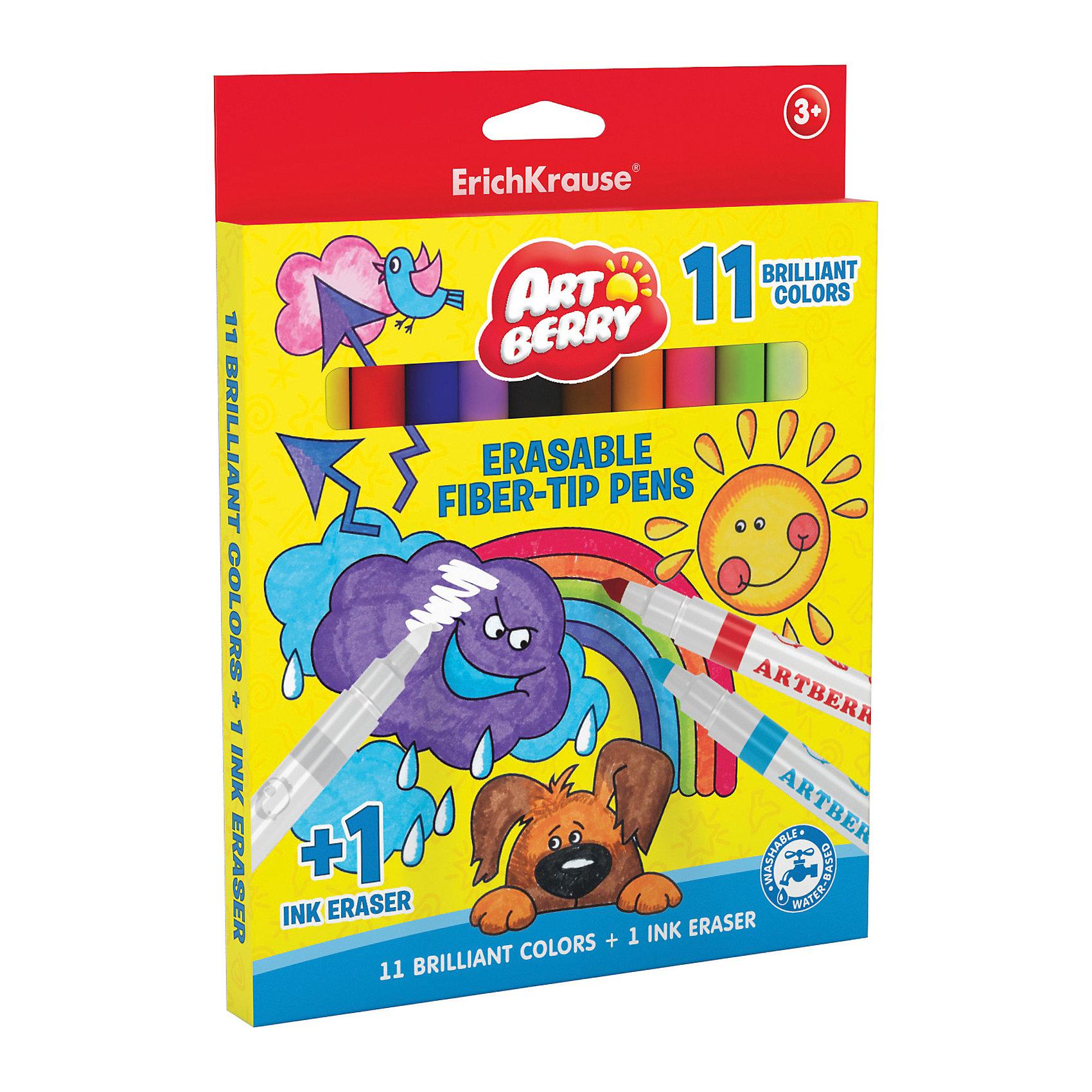 Фломастеры Рисуй-стирай 12 цв.Разве есть ребенок, который не любит рисовать яркими и удобными фломастерами? Фломастеры Рисуй-стирай Artberry разработаны специально для детей, осваивающих рисование. В наборе - 11 фломастеров разных цветов, здесь собраны основные оттенки, необходимые маленьким художникам. А также один фломастер поглотитель цвета, при помощи которого можно исправить иди дополнить рисунок. Рисование помогает детям развивать усидчивость, воображение, образное восприятие мира, а также мелкую моторику рук. <br>Фломастеры сделаны из безопасных для детей материалов (качественного пластика). Удобная форма помогает крепко держать их даже маленькой рукой. Картонная упаковка  поможет хранить фломастеры и не терять их. Вентилируемый колпачок обеспечит безопасное использование фломастеров.<br><br>Дополнительная информация:<br><br>комплектация: 12 шт;<br>удобная упаковка;<br>размер: 18 ? 1,7 ? 23 см;<br>яркие цвета;<br>смываются водой;<br>вентилируемый колпачок.<br><br>Фломастеры Рисуй-стирай 12 цв. можно купить в нашем магазине.<br><br>Ширина мм: 180<br>Глубина мм: 17<br>Высота мм: 230<br>Вес г: 173<br>Возраст от месяцев: 36<br>Возраст до месяцев: 204<br>Пол: Унисекс<br>Возраст: Детский<br>SKU: 4682077