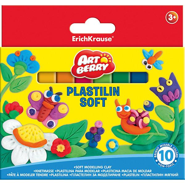 Мягкий пластилин 10 цв., 150гРисование и лепка<br>Лепка - занятие не только веселое и увлекательное, но и полезное! Оно помогает детям развивать усидчивость, воображение, образное восприятие мира, а также мелкую моторику рук. Этот мягкий пластилин разработан специально для детей, осваивающих лепку. В наборе - 10 цветов, здесь собраны основные оттенки, необходимые маленьким творцам. Мягкий пластилин не прилипает к рукам и одежде. <br>Мягкий пластилин сделан из безопасных для детей материалов. Картонная упаковка  поможет хранить его и не терять. Яркие цвета позволят создавать эффектные фигурки. Преимущество именно этого пластилина - низкая температура плавления, поэтому из него будет легко лепить даже самым маленьким.<br><br>Дополнительная информация:<br><br>комплектация: 10 шт;<br>удобная упаковка;<br>размер: 2 ? 13 ? 15;<br>яркие цвета;<br>не липнет к рукам;<br>вес одного цвета - 150 г.<br><br>Мягкий пластилин 10 цв., 150г можно купить в нашем магазине.<br>Ширина мм: 133; Глубина мм: 15; Высота мм: 125; Вес г: 170; Возраст от месяцев: 36; Возраст до месяцев: 204; Пол: Унисекс; Возраст: Детский; SKU: 4682086;