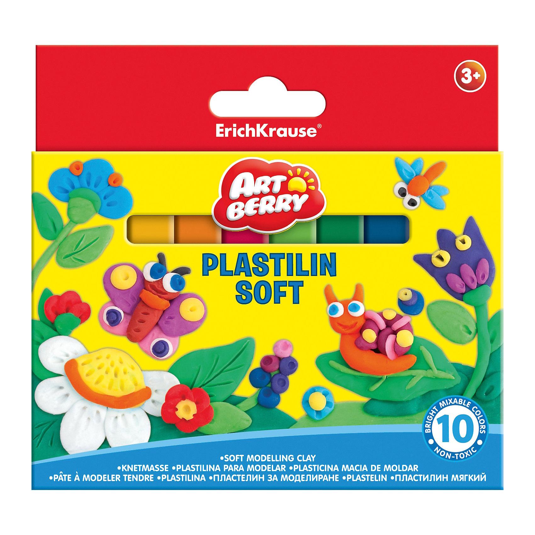 Мягкий пластилин 10 цв., 150гЛепка<br>Лепка - занятие не только веселое и увлекательное, но и полезное! Оно помогает детям развивать усидчивость, воображение, образное восприятие мира, а также мелкую моторику рук. Этот мягкий пластилин разработан специально для детей, осваивающих лепку. В наборе - 10 цветов, здесь собраны основные оттенки, необходимые маленьким творцам. Мягкий пластилин не прилипает к рукам и одежде. <br>Мягкий пластилин сделан из безопасных для детей материалов. Картонная упаковка  поможет хранить его и не терять. Яркие цвета позволят создавать эффектные фигурки. Преимущество именно этого пластилина - низкая температура плавления, поэтому из него будет легко лепить даже самым маленьким.<br><br>Дополнительная информация:<br><br>комплектация: 10 шт;<br>удобная упаковка;<br>размер: 2 ? 13 ? 15;<br>яркие цвета;<br>не липнет к рукам;<br>вес одного цвета - 150 г.<br><br>Мягкий пластилин 10 цв., 150г можно купить в нашем магазине.<br><br>Ширина мм: 133<br>Глубина мм: 15<br>Высота мм: 125<br>Вес г: 170<br>Возраст от месяцев: 36<br>Возраст до месяцев: 204<br>Пол: Унисекс<br>Возраст: Детский<br>SKU: 4682086