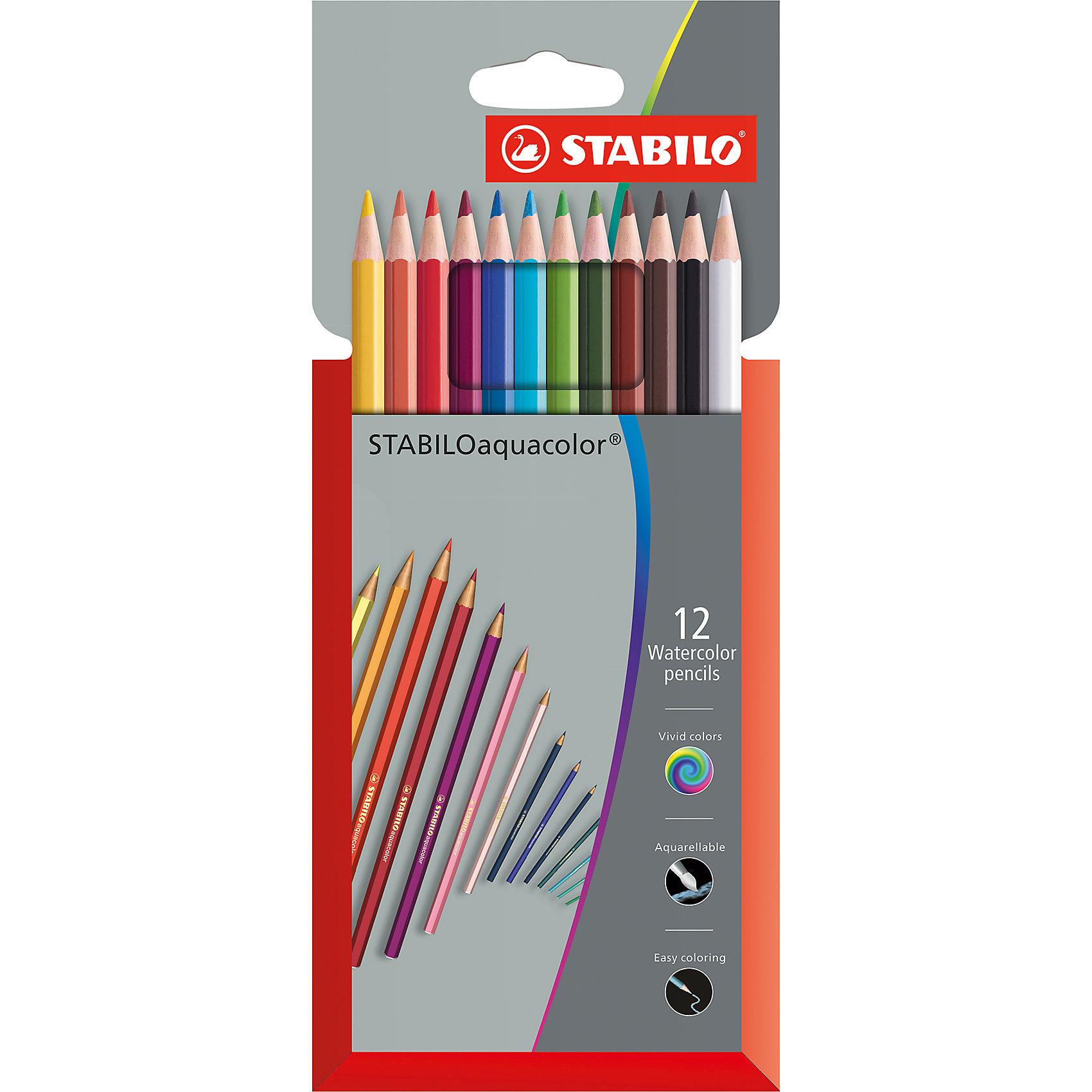 STABILO Набор акварельных карандашей 12 цв. набор карандашей saul 12