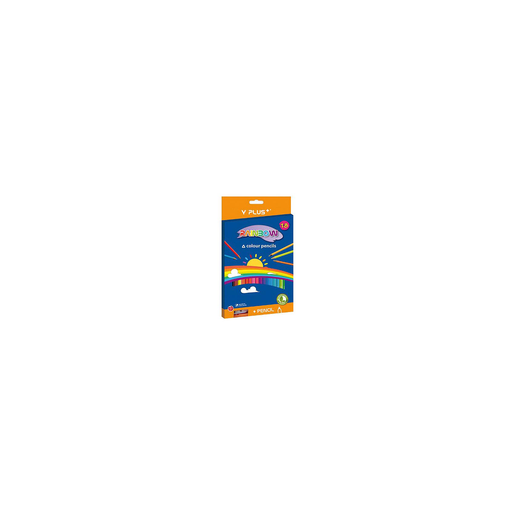 - Набор цветных карандашей+точилка Y-Plus RAINBOW, 18 цв. погружной блендер philips hr 1605 00 daily collection