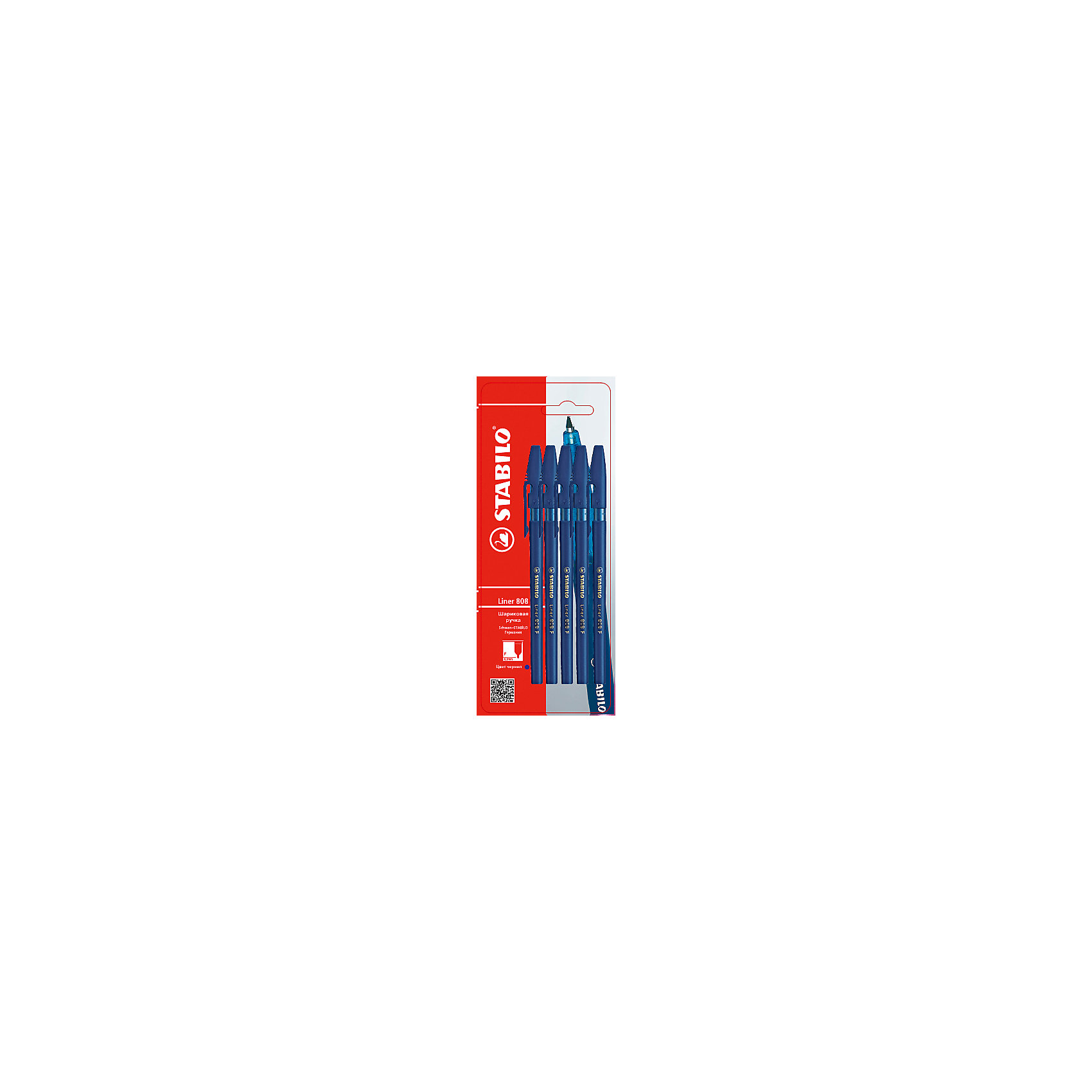 Набор ручек, 5 шт., синиеПисьменные принадлежности<br>Набор ручек, 5 шт., синий от марки Stabilo<br><br>Удобные немецкие ручки от компании Stabilo в прозрачном корпусе. Пишущий инструмент отличного качества! Шариковая ручка имеет заменяемый стержень и надежный клип.<br>Отлично ложится в руке, пишет мягко. Дает аккуратную тонкую линию. Чернил хватает на долгое время! Чернила быстро сохнут. В наборе - пять одинаковых ручек в прозрачном корпусе.<br><br>Особенности данной модели:<br><br>ширина оставляемого следа: 0,3 мм;<br>цвет чернил: синий;<br>цвет корпуса: прозрачный.<br><br>Набор ручек, 5 шт., синий от марки Stabilo можно купить в нашем магазине.<br><br>Ширина мм: 204<br>Глубина мм: 80<br>Высота мм: 10<br>Вес г: 13<br>Возраст от месяцев: 36<br>Возраст до месяцев: 2147483647<br>Пол: Унисекс<br>Возраст: Детский<br>SKU: 4684731
