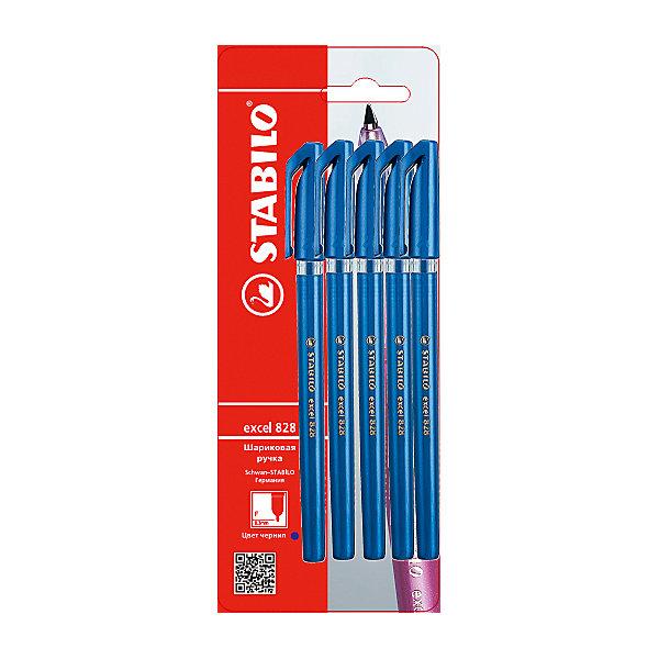 Набор ручек, 5 шт., синиеПисьменные принадлежности<br>Набор ручек, 5 шт., синий от марки Stabilo<br><br>Удобные немецкие ручки от компании Stabilo в прозрачном корпусе. Пишущий инструмент отличного качества! Шариковая ручка имеет заменяемый стержень и надежный клип.<br>Отлично ложится в руке, пишет мягко. Дает аккуратную тонкую линию. Чернил хватает на долгое время! Чернила быстро сохнут. В наборе - пять одинаковых ручек в голубом корпусе.<br><br>Особенности данной модели:<br><br>ширина оставляемого следа: 0,3 мм;<br>цвет чернил: синий;<br>цвет корпуса: голубой.<br><br>Набор ручек, 5 шт., синий от марки Stabilo можно купить в нашем магазине.<br>Ширина мм: 204; Глубина мм: 80; Высота мм: 10; Вес г: 13; Возраст от месяцев: 36; Возраст до месяцев: 2147483647; Пол: Унисекс; Возраст: Детский; SKU: 4684734;