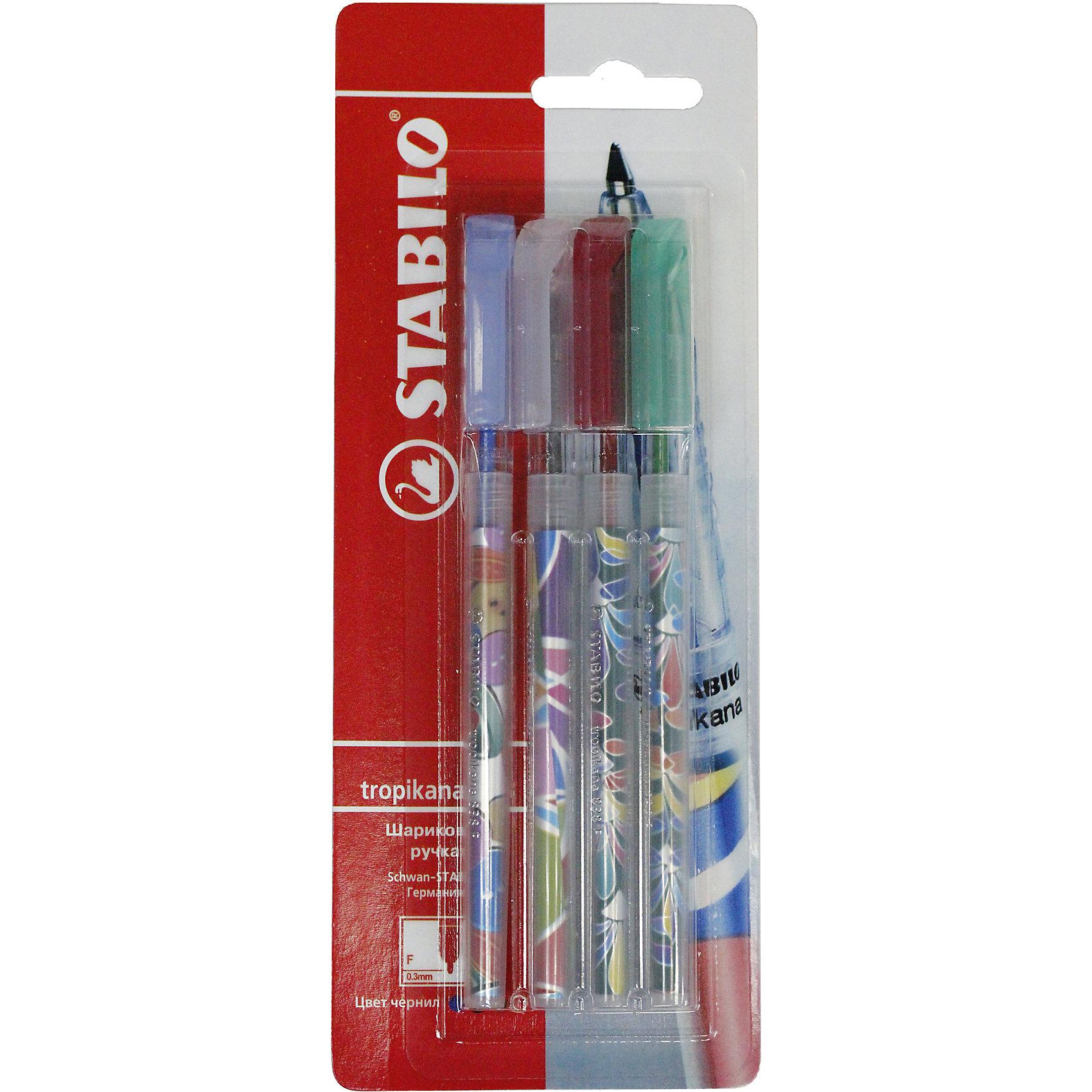 Набор ручекПисьменные принадлежности<br>Набор ручек от марки Stabilo<br><br>Удобные немецкие ручки от компании Stabilo в прозрачном корпусе. Пишущий инструмент отличного качества! Автоматическая шариковая ручка имеет заменяемый стержень и надежный клип.<br>Отлично ложится в руке, пишет мягко. Дает аккуратную линию. Чернил хватает на долгое время! Чернила быстро сохнут. В наборе - четыре ручки с разными яркими корпусами.<br><br>Особенности данной модели:<br><br>ширина оставляемого следа: 0,3 мм;<br>цвет корпуса: разноцветный.<br><br>Набор ручек от марки Stabilo можно купить в нашем магазине.<br><br>Ширина мм: 204<br>Глубина мм: 80<br>Высота мм: 10<br>Вес г: 10<br>Возраст от месяцев: 36<br>Возраст до месяцев: 2147483647<br>Пол: Унисекс<br>Возраст: Детский<br>SKU: 4684735