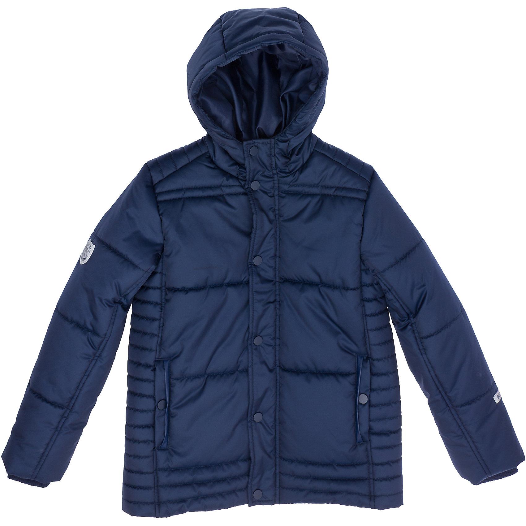 Куртка для мальчика ScoolВерхняя одежда<br>Куртка для мальчика от известного бренда Scool<br>Состав:<br>Верх: 100% полиэстер, Подкладка: 100% полиэстер, Наполнитель: 100% полиэстер, 250 г/м2<br>Теплая осенняя куртка стильного темно-синего цвета <br>* Подкладка таффета <br>* Застегивается на молнию и кнопки, рукава на резинке <br>* Капюшон утягивается стопперами <br>* Два кармана на кнопках<br><br>Ширина мм: 356<br>Глубина мм: 10<br>Высота мм: 245<br>Вес г: 519<br>Цвет: темно-синий<br>Возраст от месяцев: 132<br>Возраст до месяцев: 144<br>Пол: Мужской<br>Возраст: Детский<br>Размер: 152,146,158,140,134,122,128,164<br>SKU: 4686632