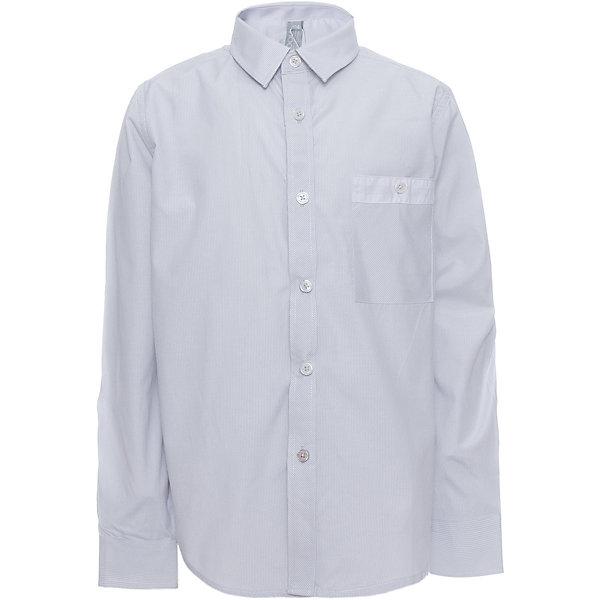 Рубашка для мальчика ScoolБлузки и рубашки<br>Рубашка для мальчика от известного бренда Scool<br>Состав:<br>45% хлопок, 55% полиэстер<br>Классическая светло-серая сорочка в мелкую полоску. Застегивается на пуговицы. На груди кармашек. Контрастная белая отделка по планке, карману и на рукавах.<br><br>Ширина мм: 174<br>Глубина мм: 10<br>Высота мм: 169<br>Вес г: 157<br>Цвет: голубой<br>Возраст от месяцев: 120<br>Возраст до месяцев: 132<br>Пол: Мужской<br>Возраст: Детский<br>Размер: 146,122,128,134,140,158,164,152<br>SKU: 4686742